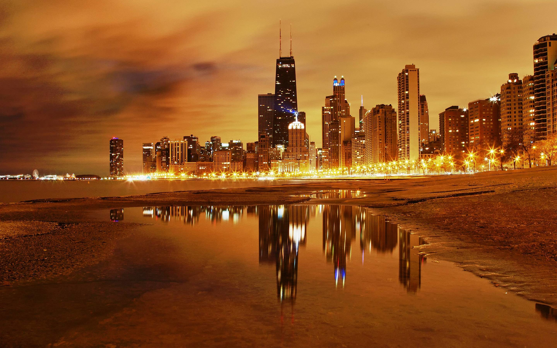 Chicago City Skyline Wallpaper