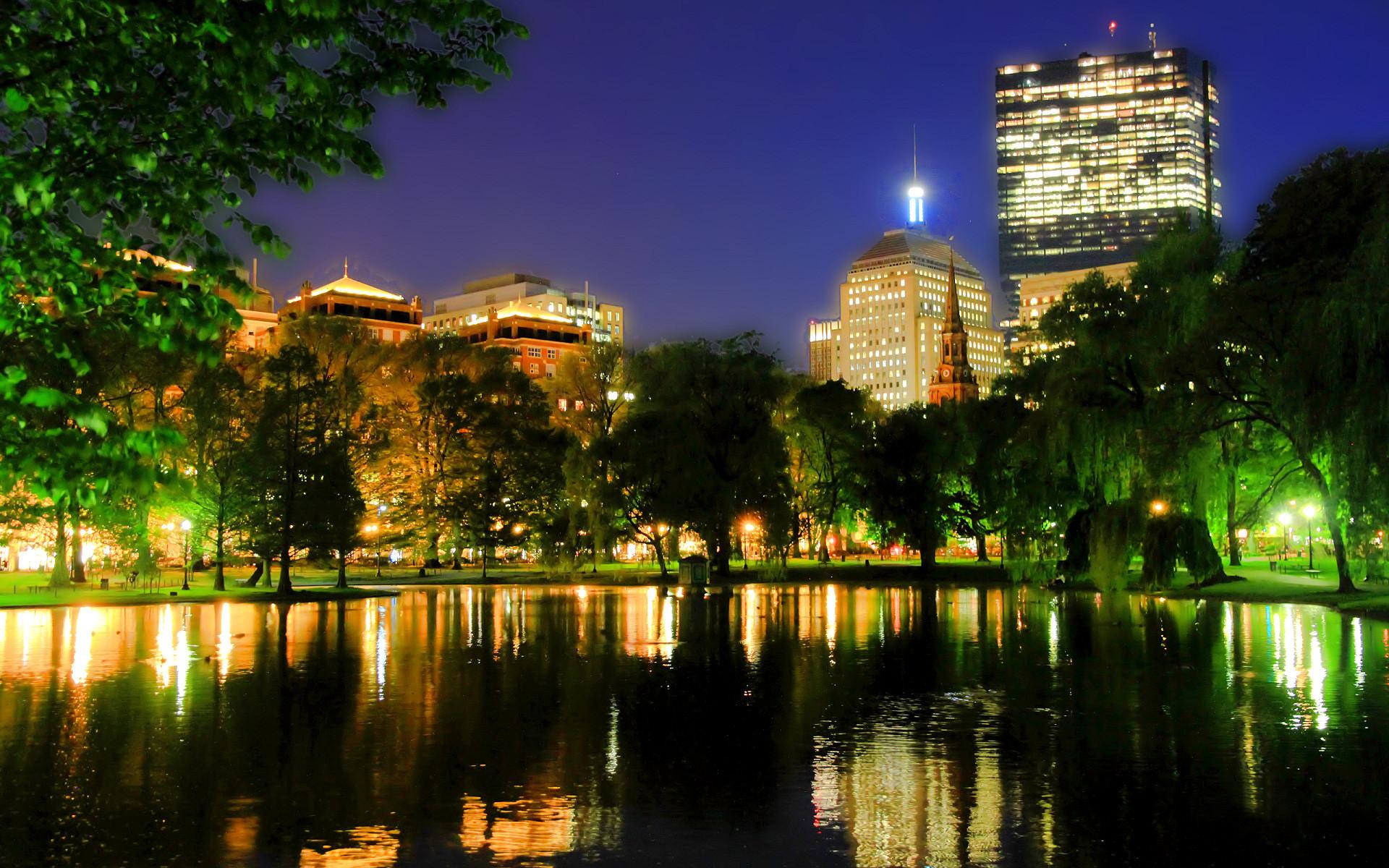 Boston City Night Skyline Hd Wallpaper Free Download | Daily Pics .