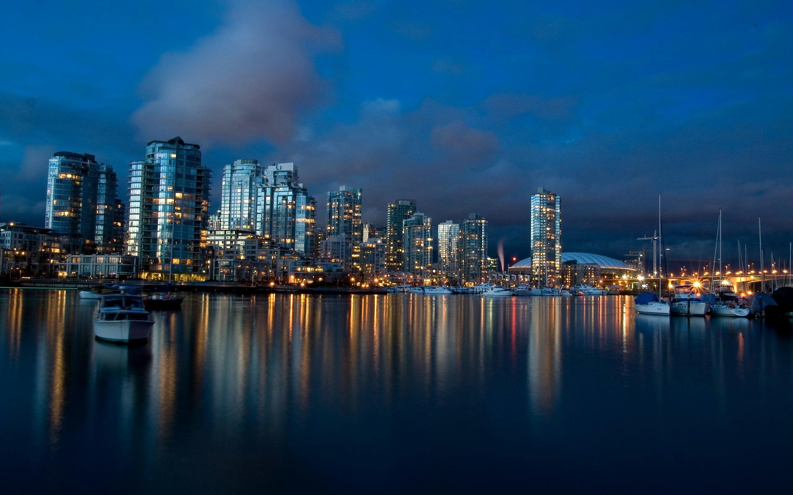 Vancouver Port Skyline Wallpaper For Desktop