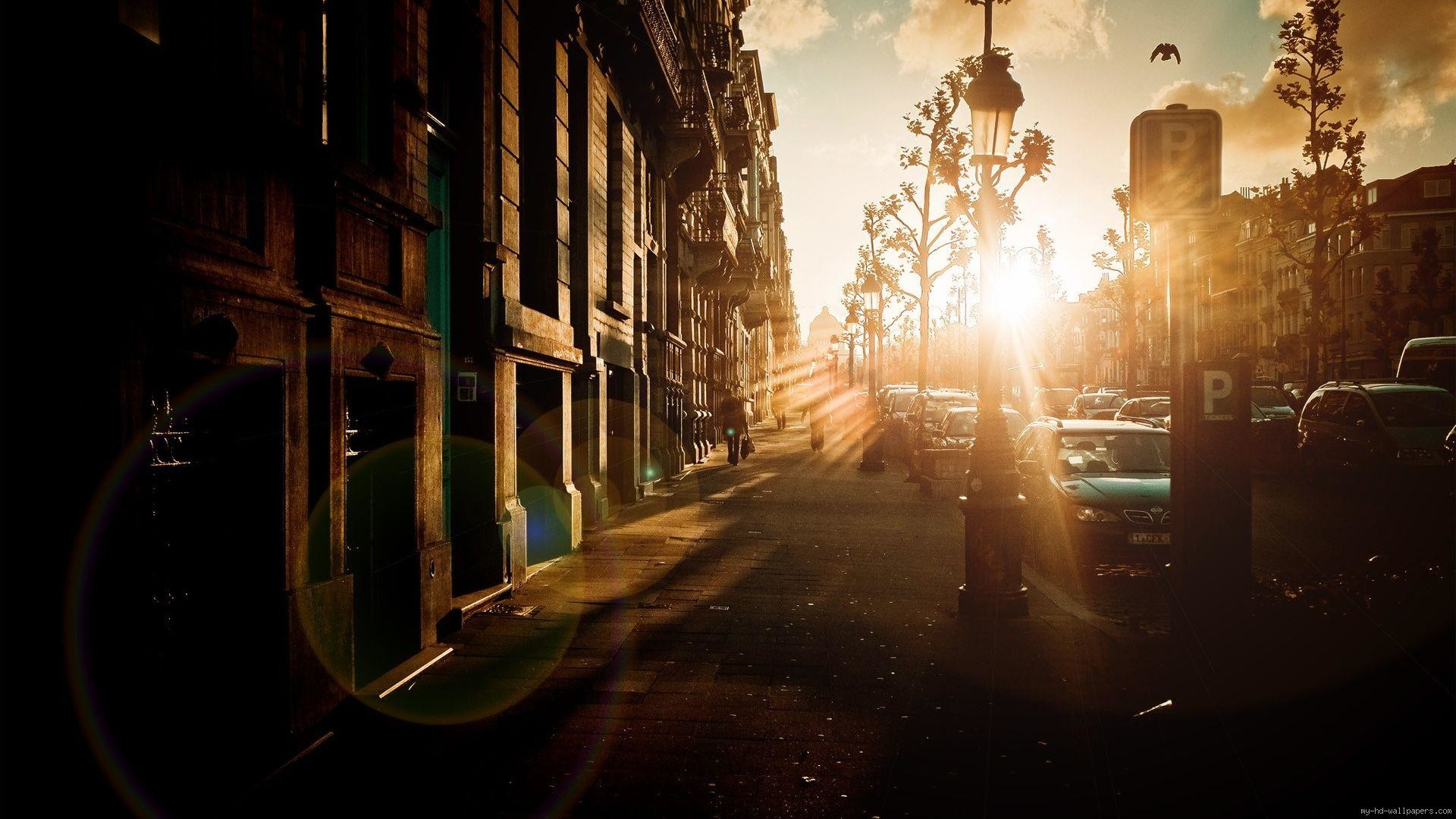 Sunrise in an old city …