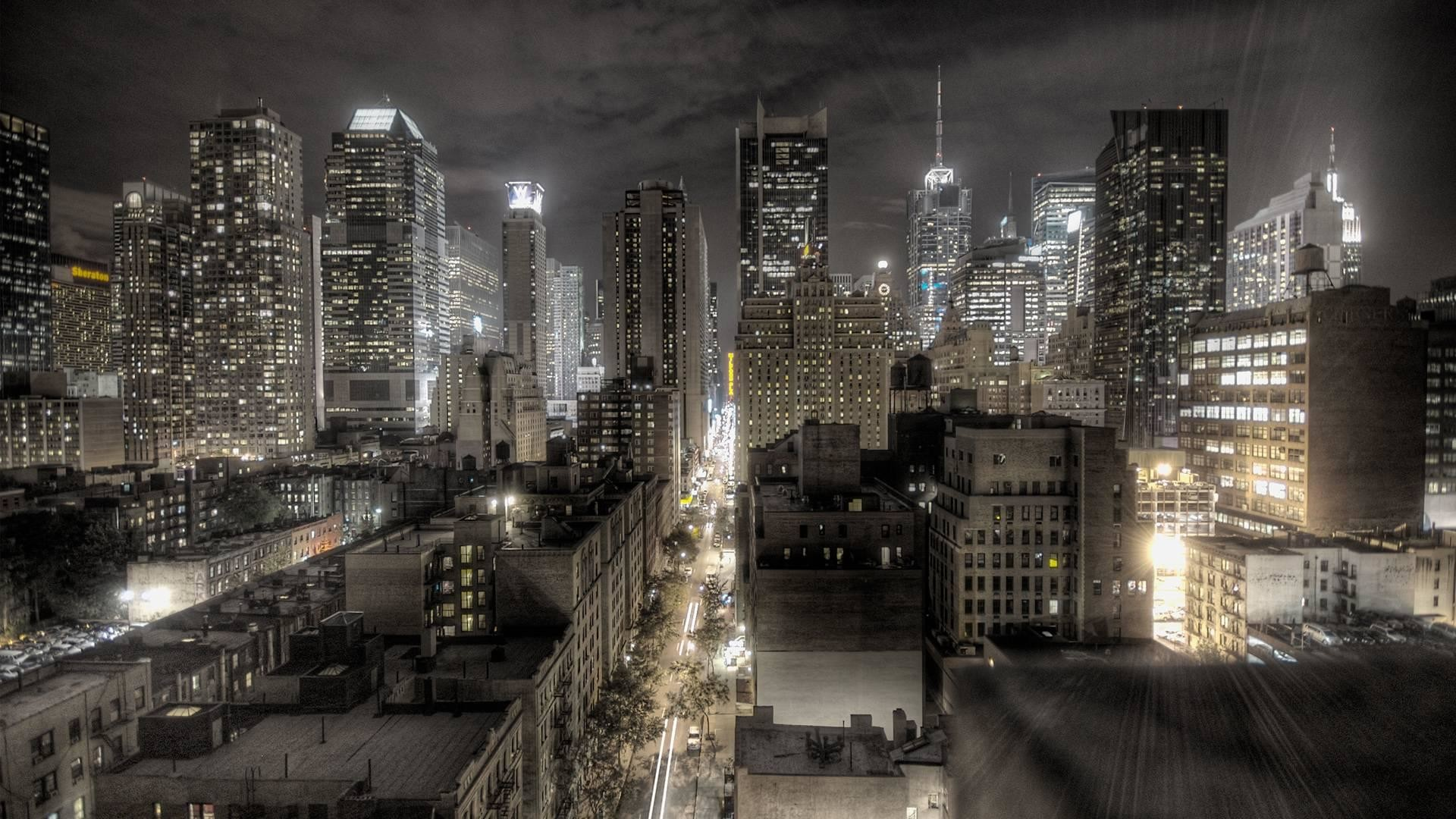 New York city HDR image hd resolution free desktop background .