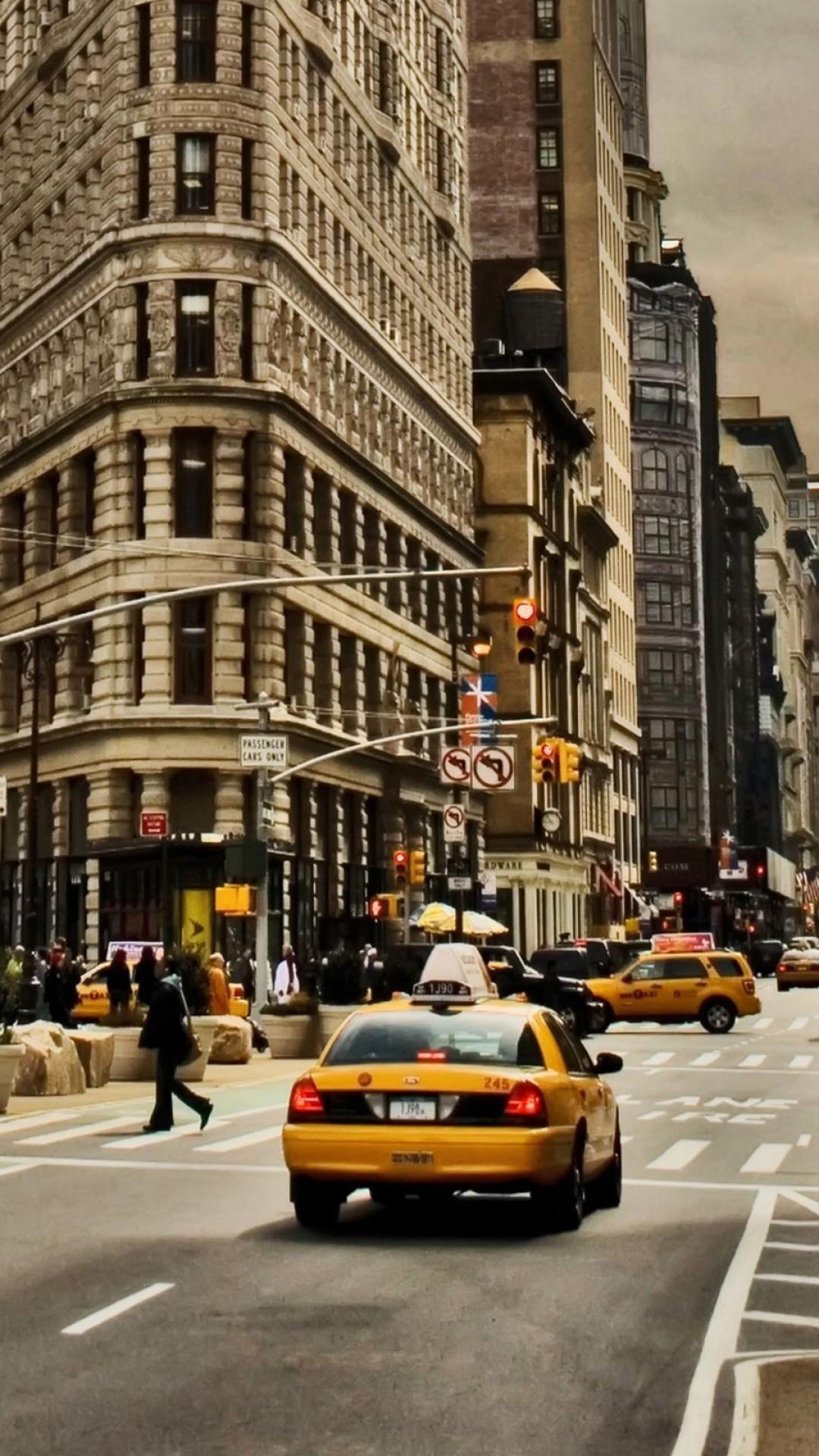 Wallpaper new york, city, building, street, cars, traffic