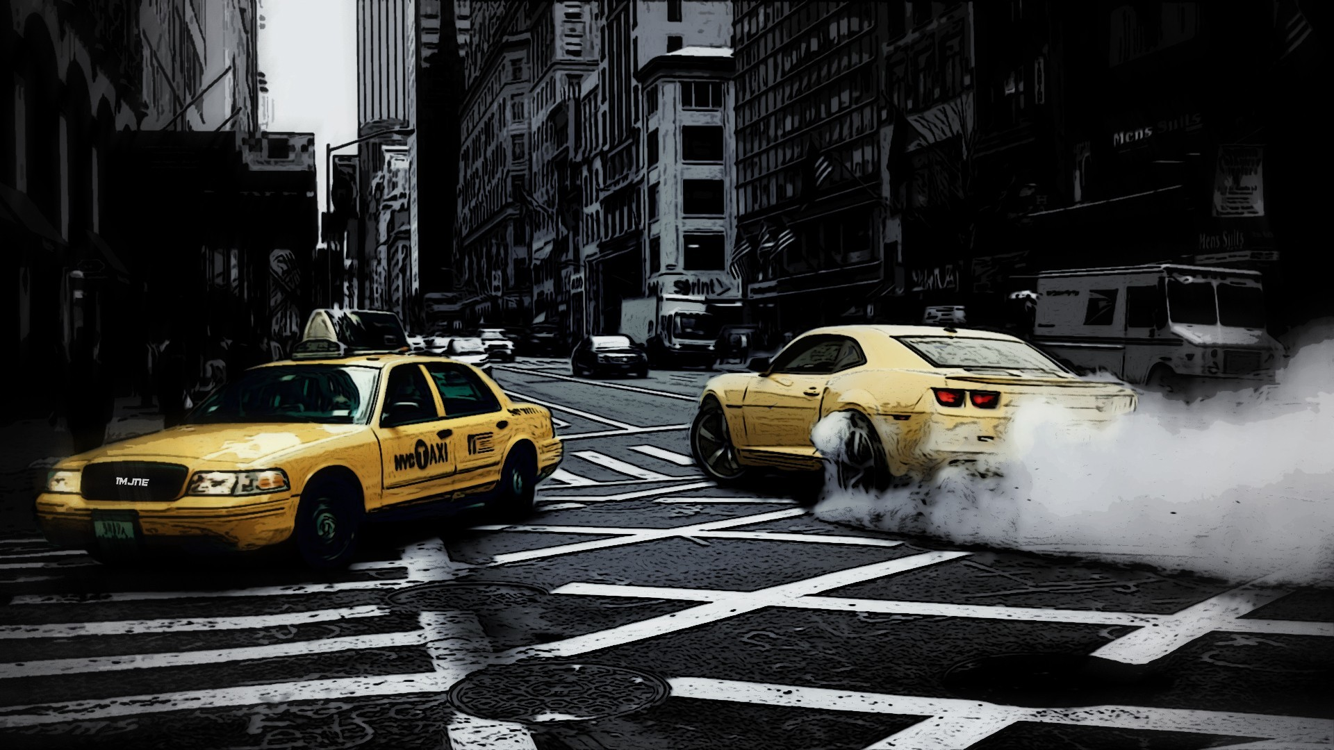 car, New York City, Taxi, Street Wallpapers HD / Desktop and Mobile  Backgrounds