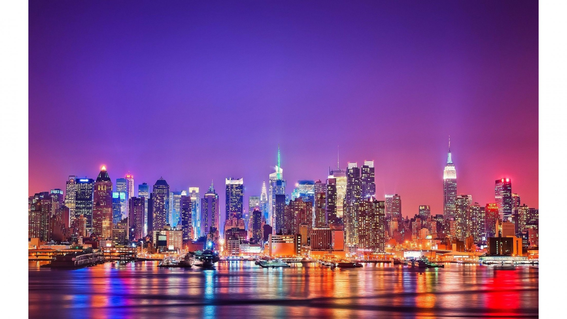 City Lights New York City 4K Wallpaper | Free 4K Wallpaper