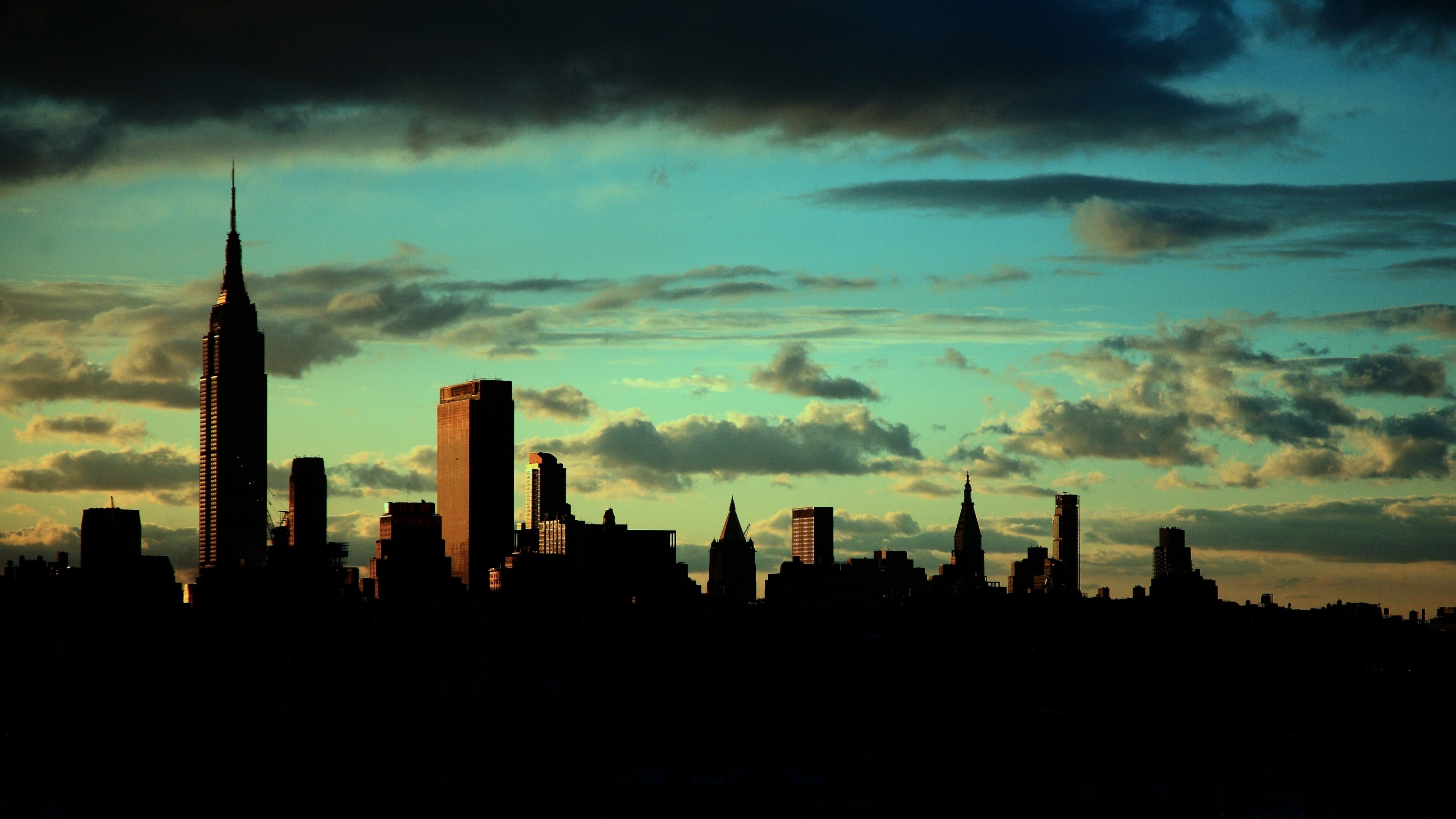 Preview wallpaper new york, empire state building, manhattan 3840×2160