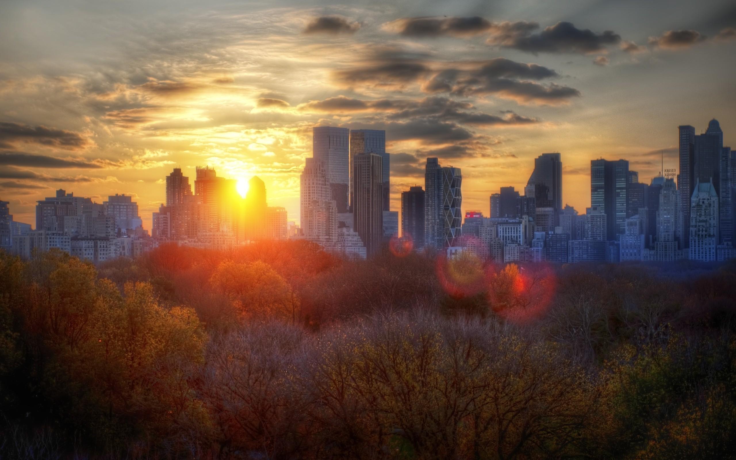 New York City Sunrise Wallpaper 4K