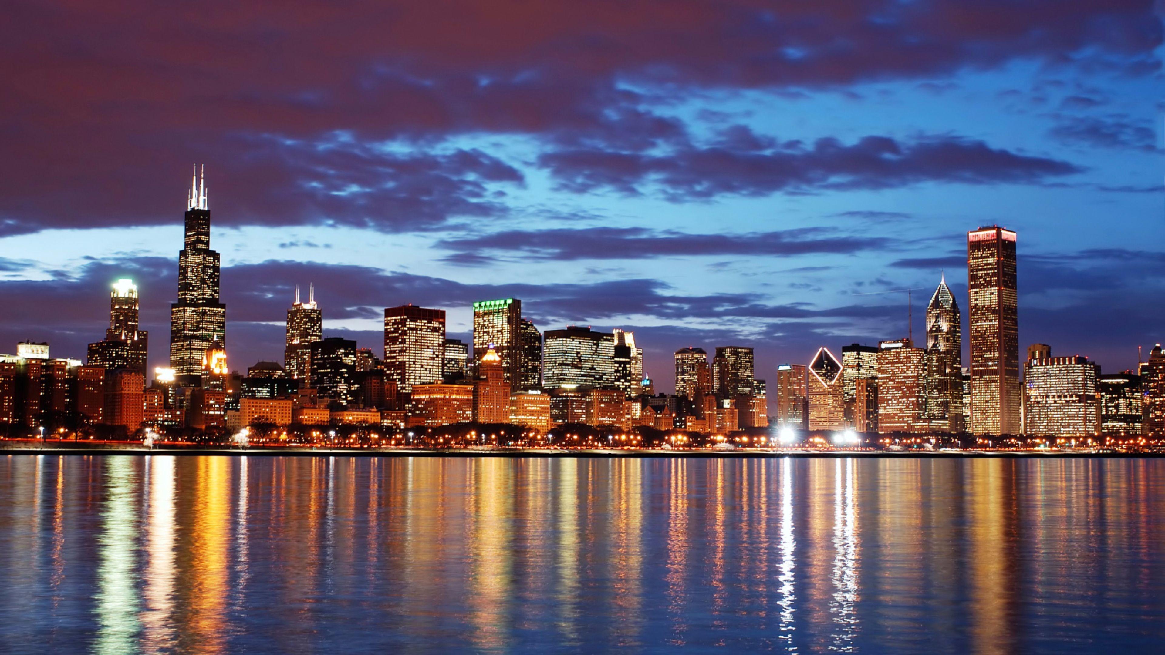 Chicago City 4K Desktop Wallpaper