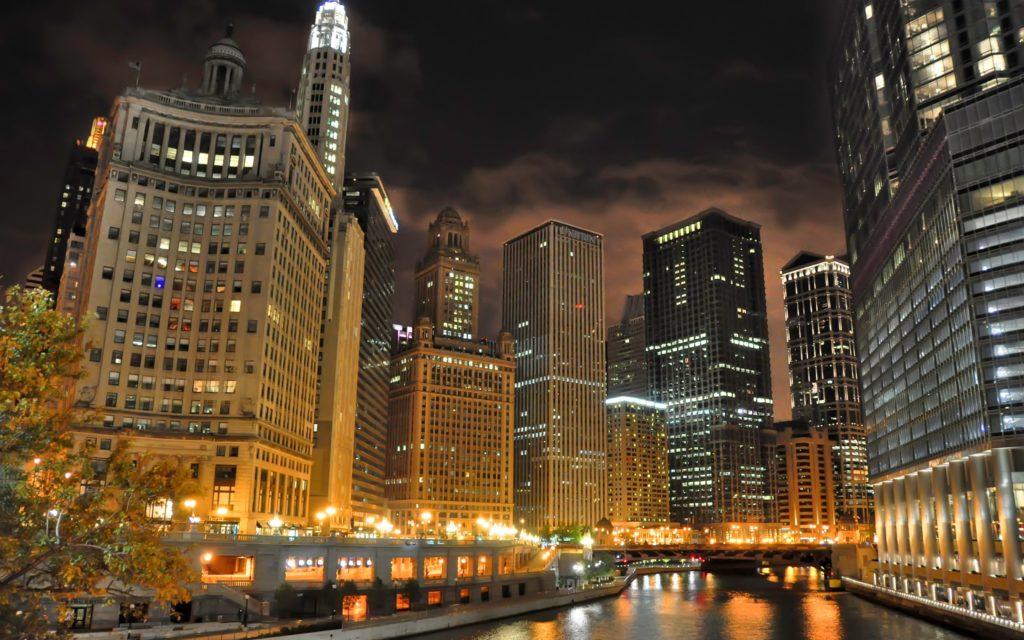 4K HD Wallpaper: Chicago Downtown