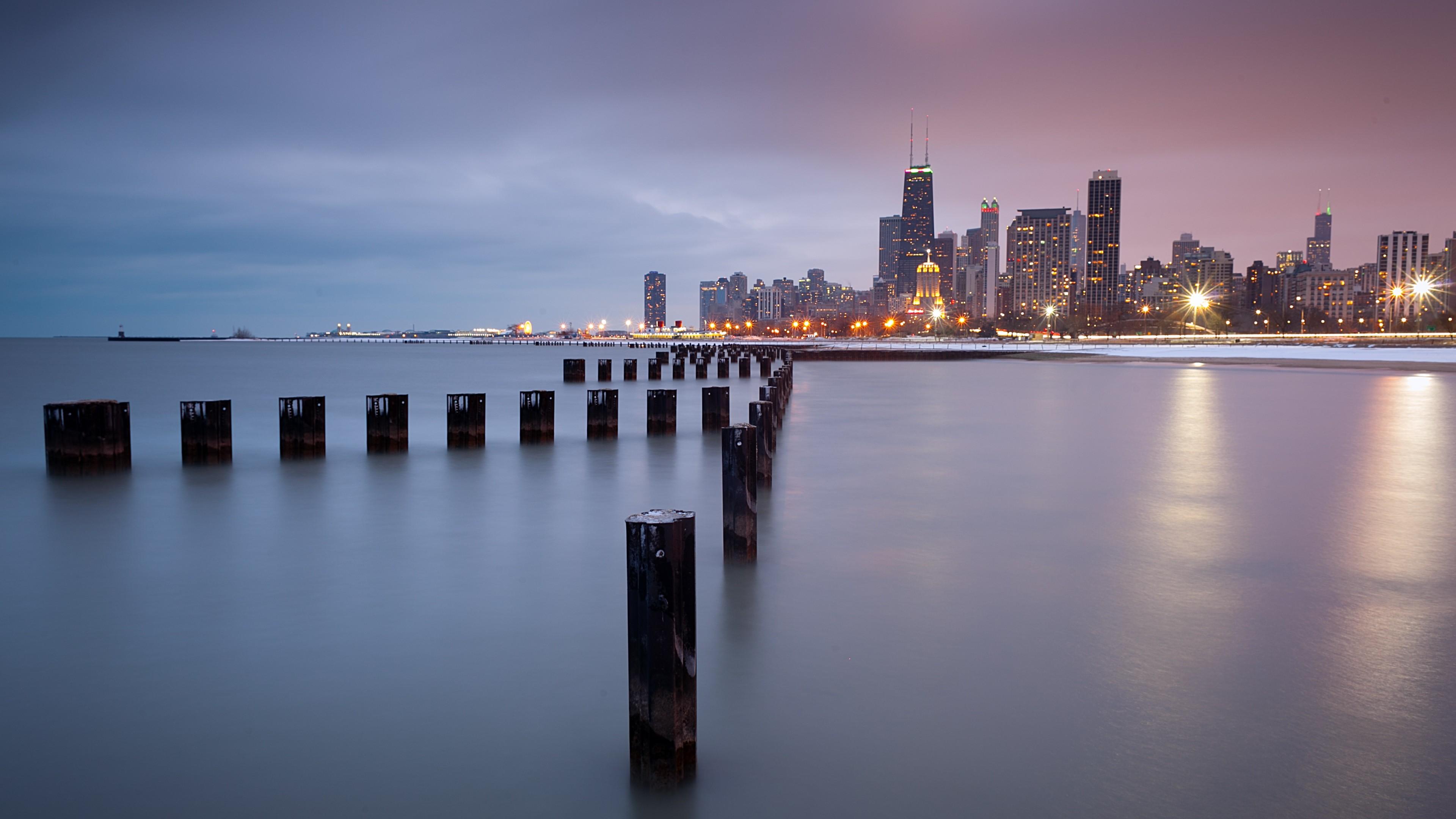 Chicago Lakefront Trail 4K Ultra HD Desktop Wallpaper Uploaded by  DesktopWalls