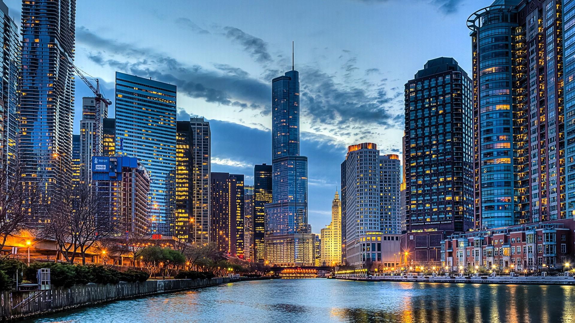 Chicago Skyline Desktop Background