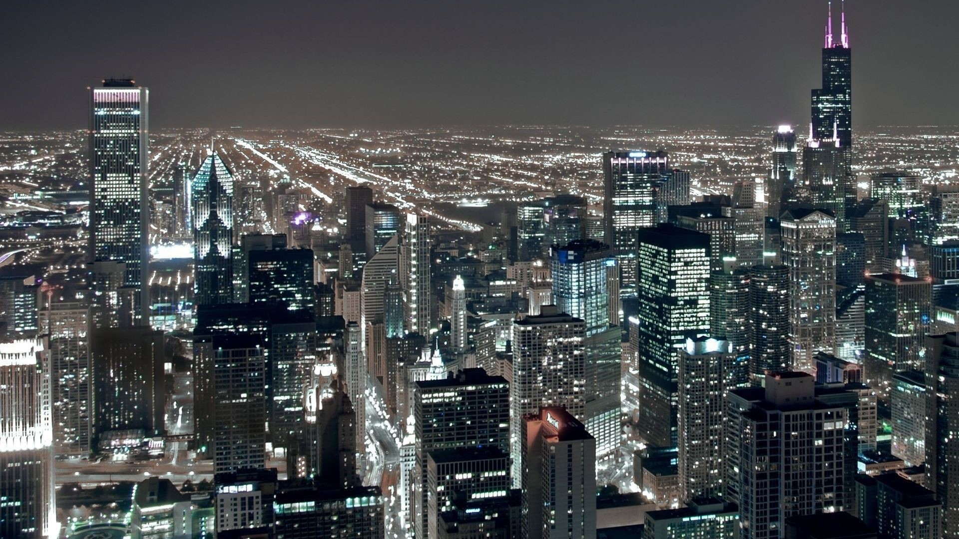 Chicago Aerial View Wallpaper