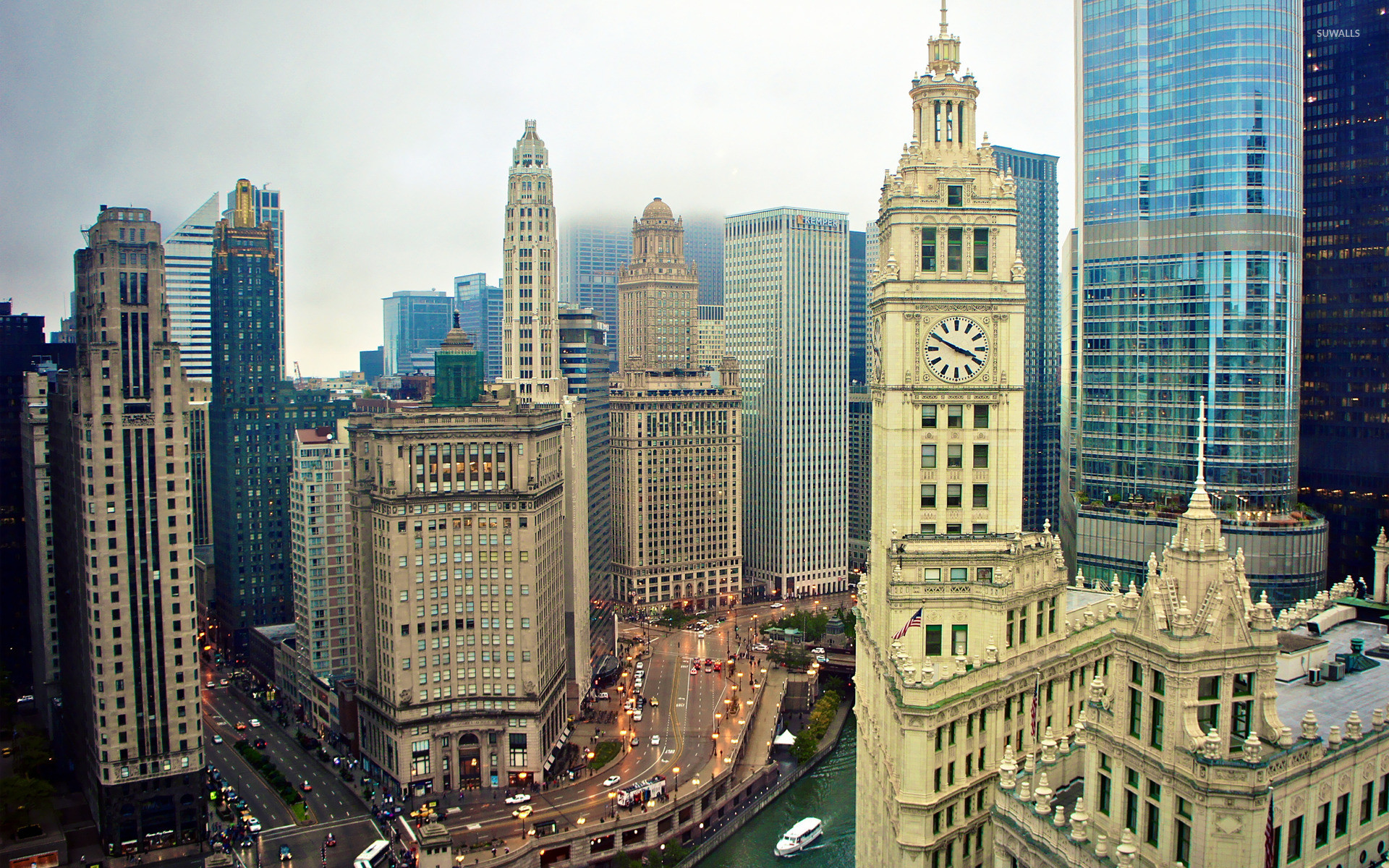 wrigley building chicago wallpaper