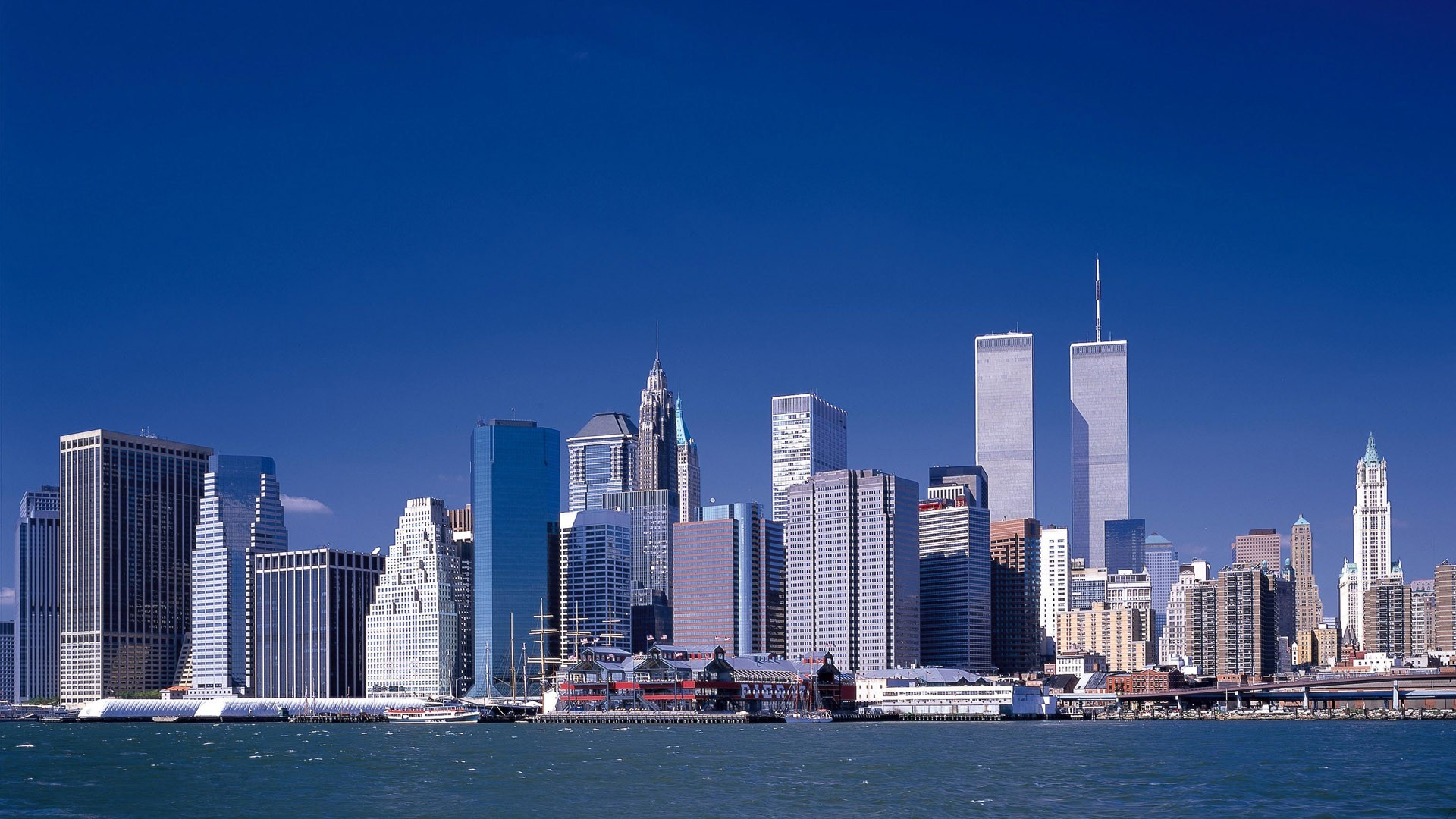 File loc lower manhattan new york city world trade center august 2001 .