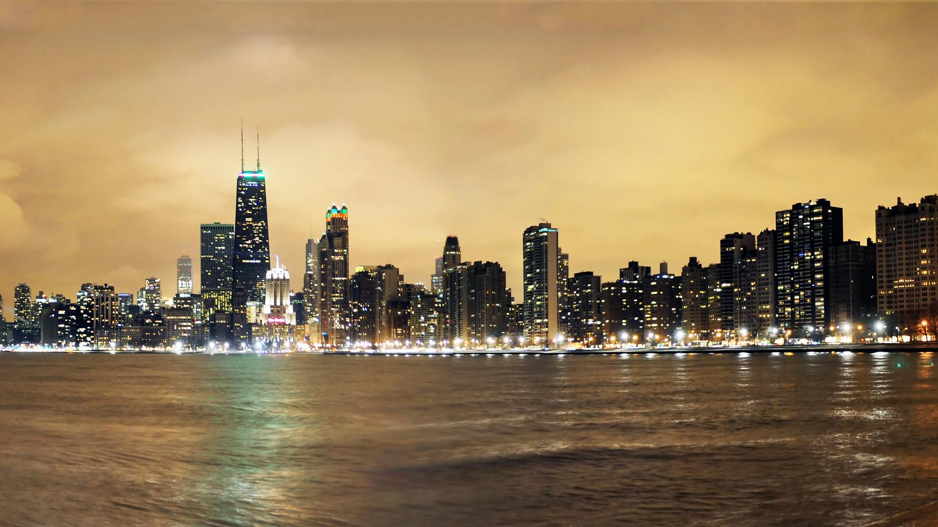 Chicago At Night Wallpaper – wallpaper.