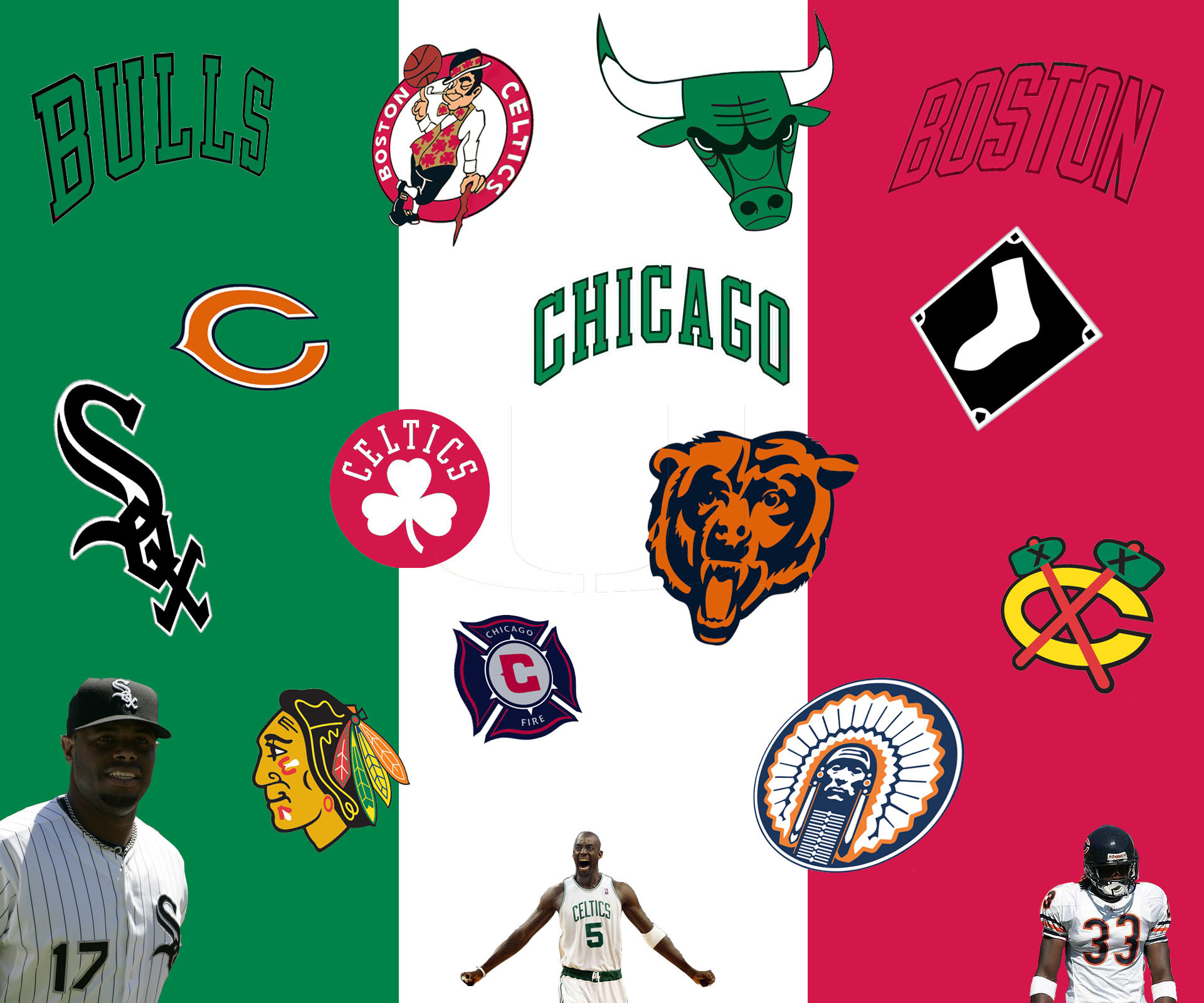 Chicago Sports Teams Wallpaper Sports on italian flag