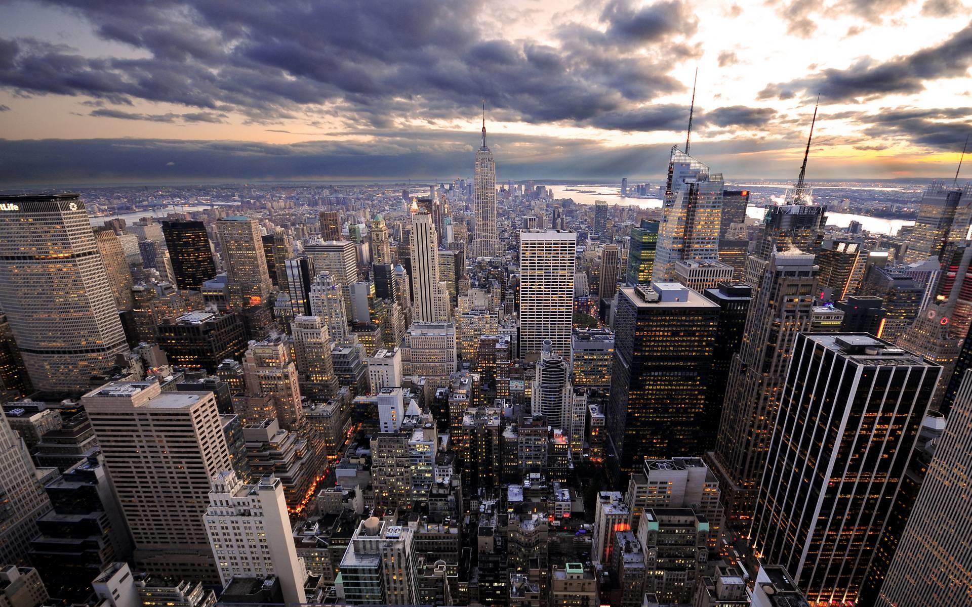 new york skyline wallpaper | fourwallsonly.com