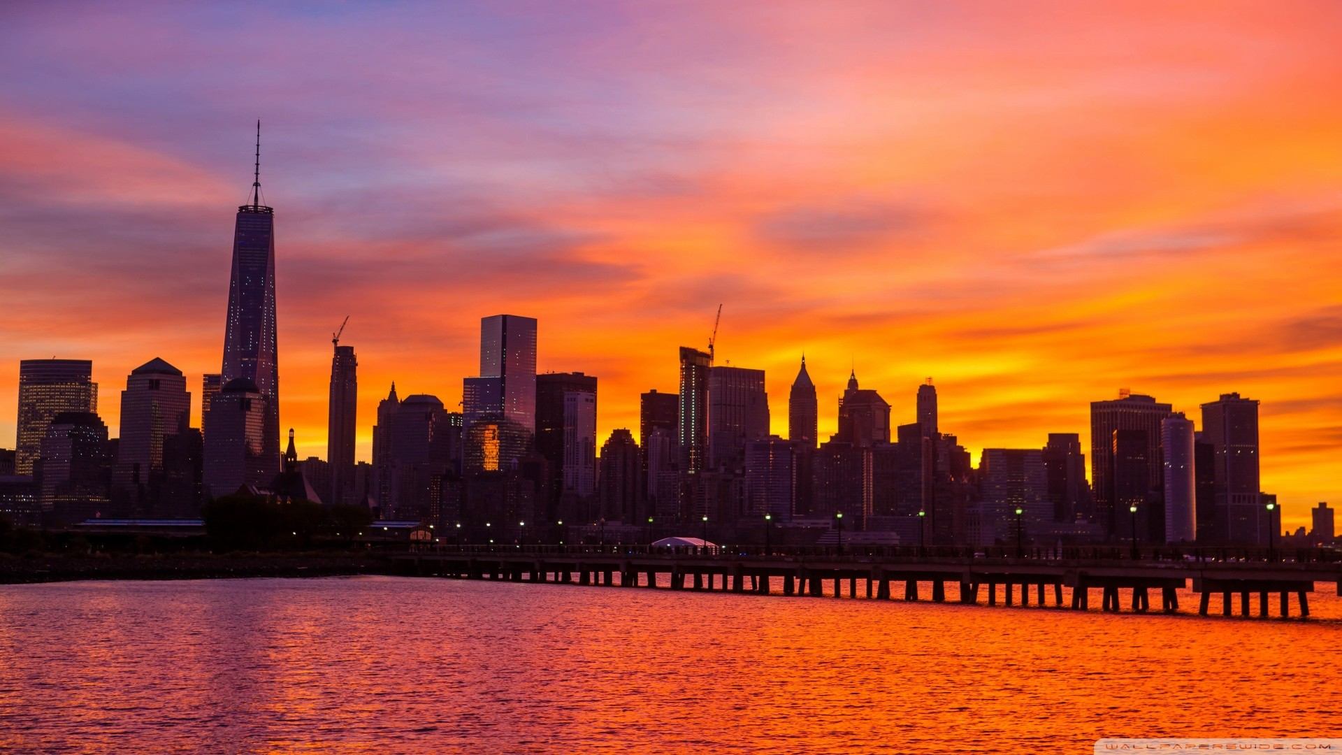 … new york city skyline sunrise hd desktop wallpaper widescreen …