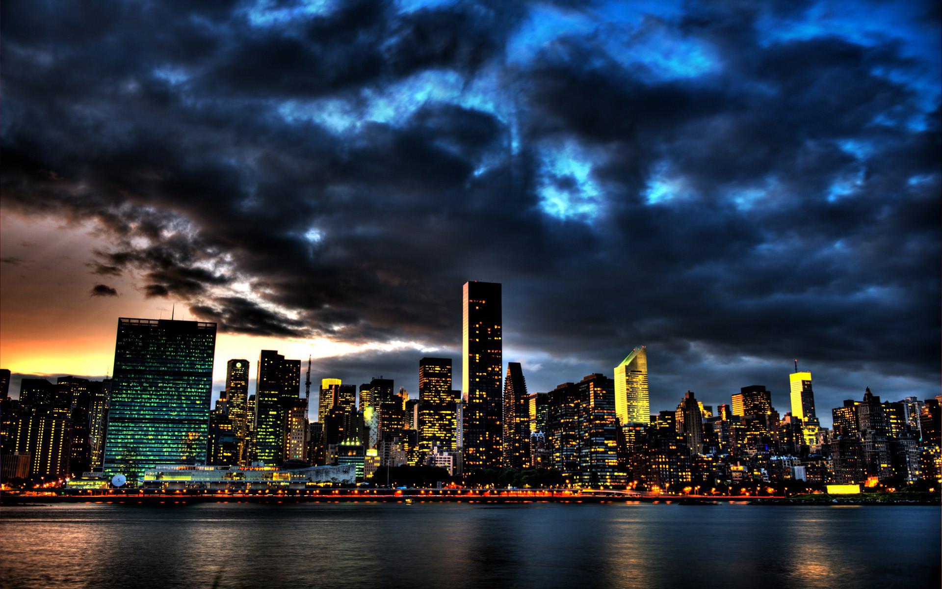 New York Skyline at Night Wallpaper HD 5 City High Resolution Wallpaper  Full…
