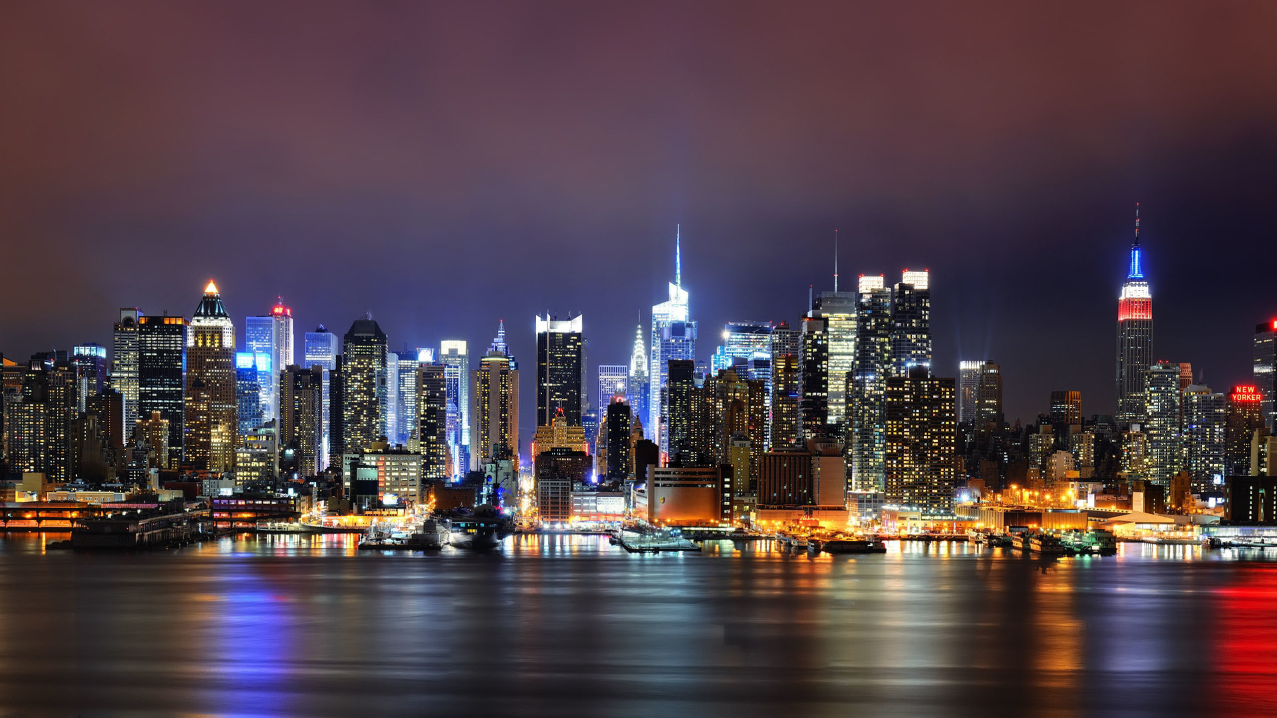 HD High Resolution New York Skyline Desktop Wallpaper Full Size .