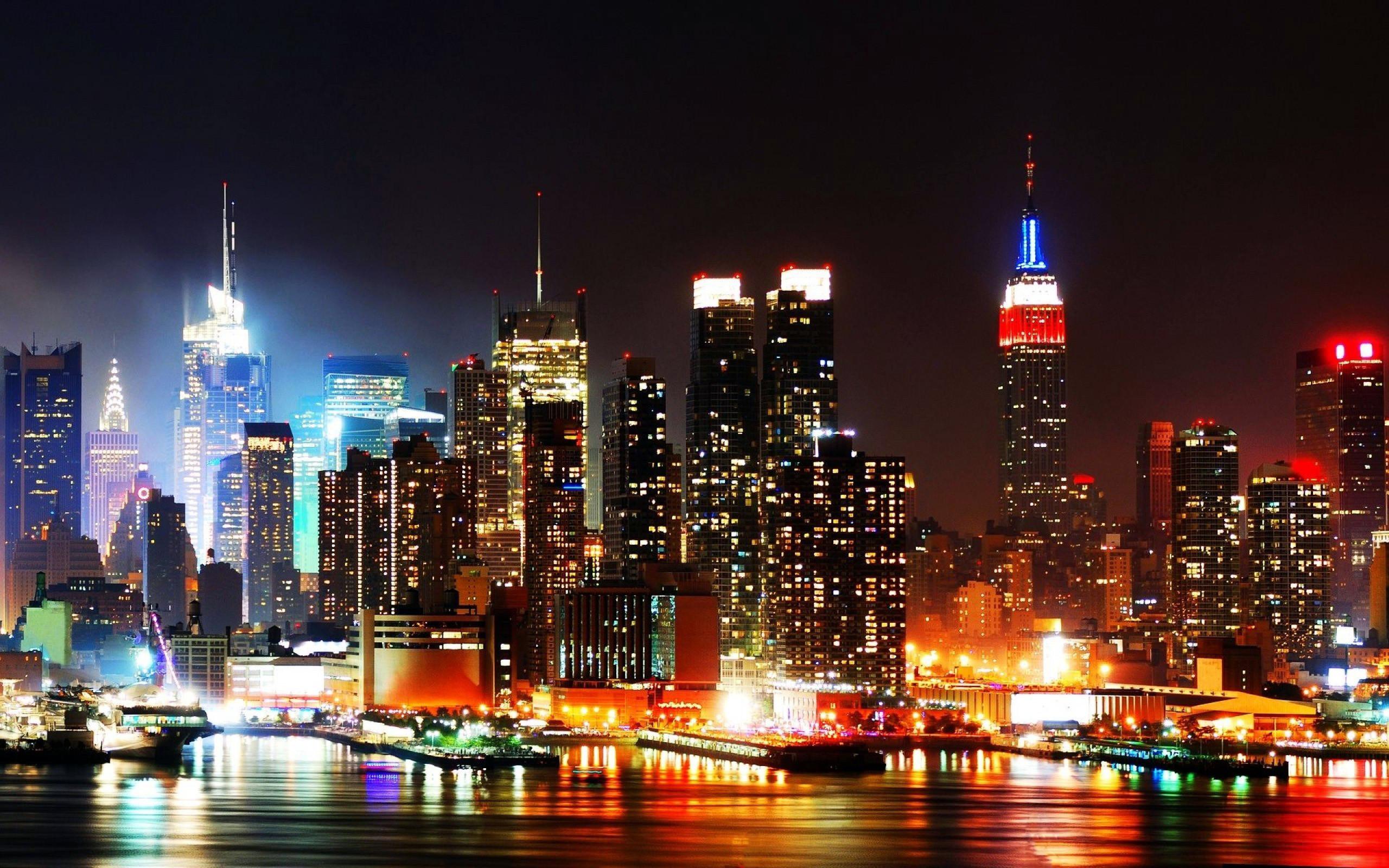 High Resolution New York Skyline at Night Wallpaper HD 21 City .