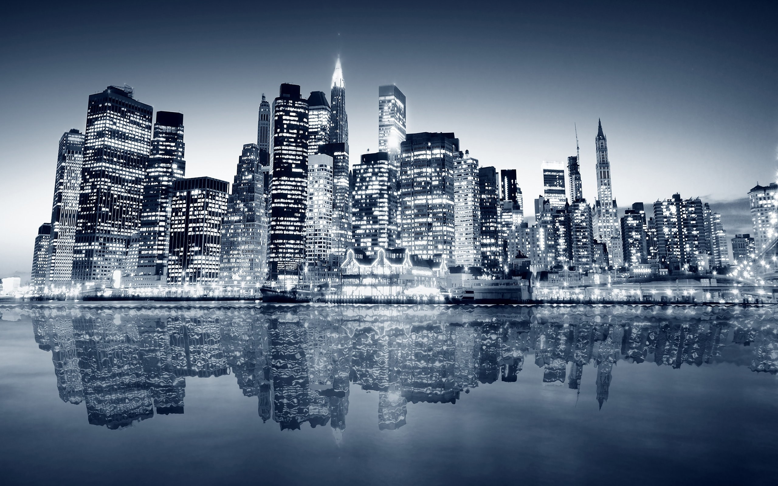 Black And White New York Skyline 9 Wallpaper HD hd backgrounds hd  screensavers hd wallpapers 1080p