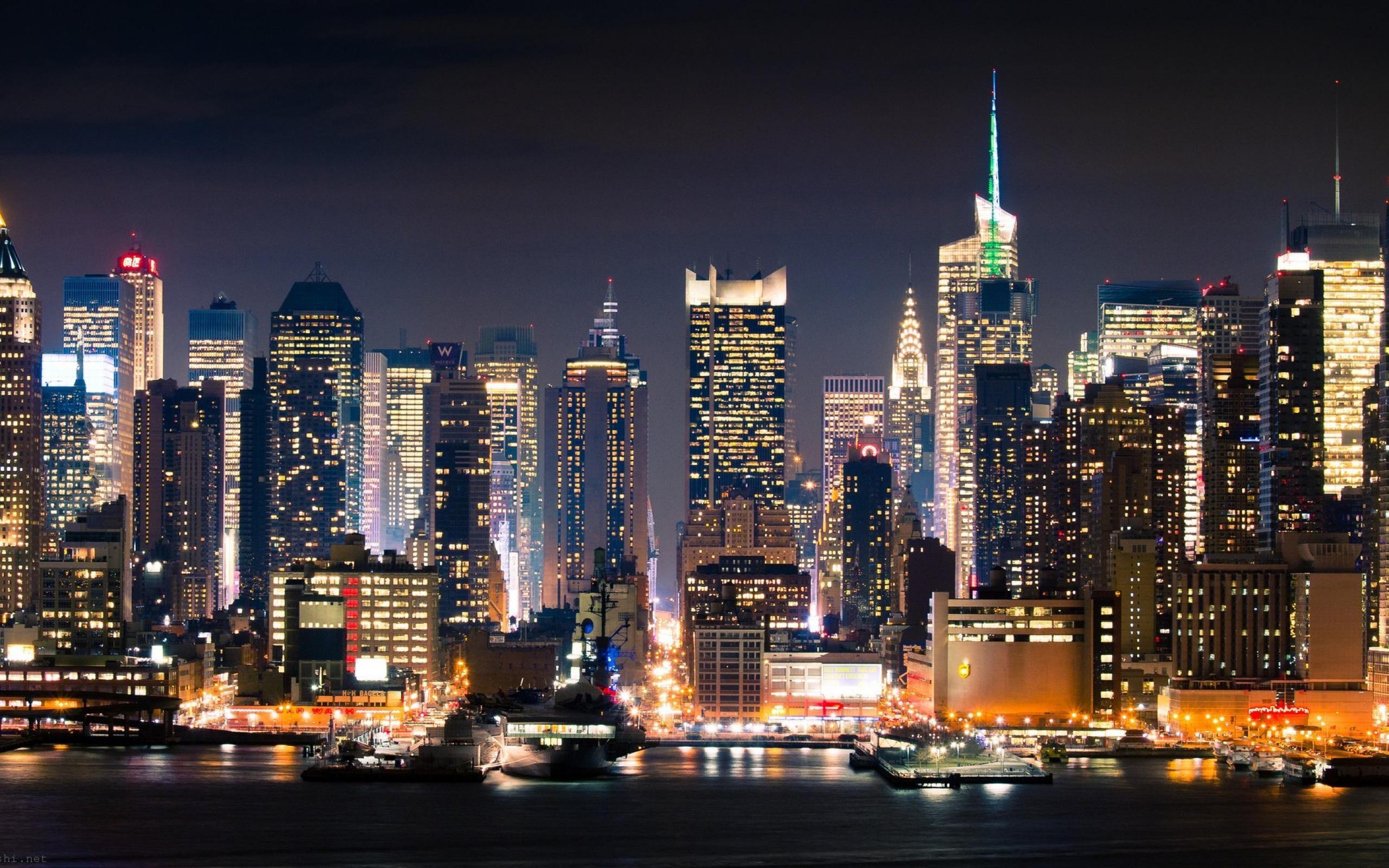 New York City Night In Manhattan Hi Wallpaper