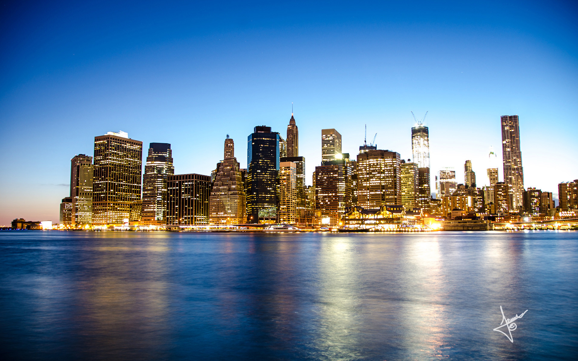 1920 x manhattan skyline wallpaper for desktop background by Holden Young