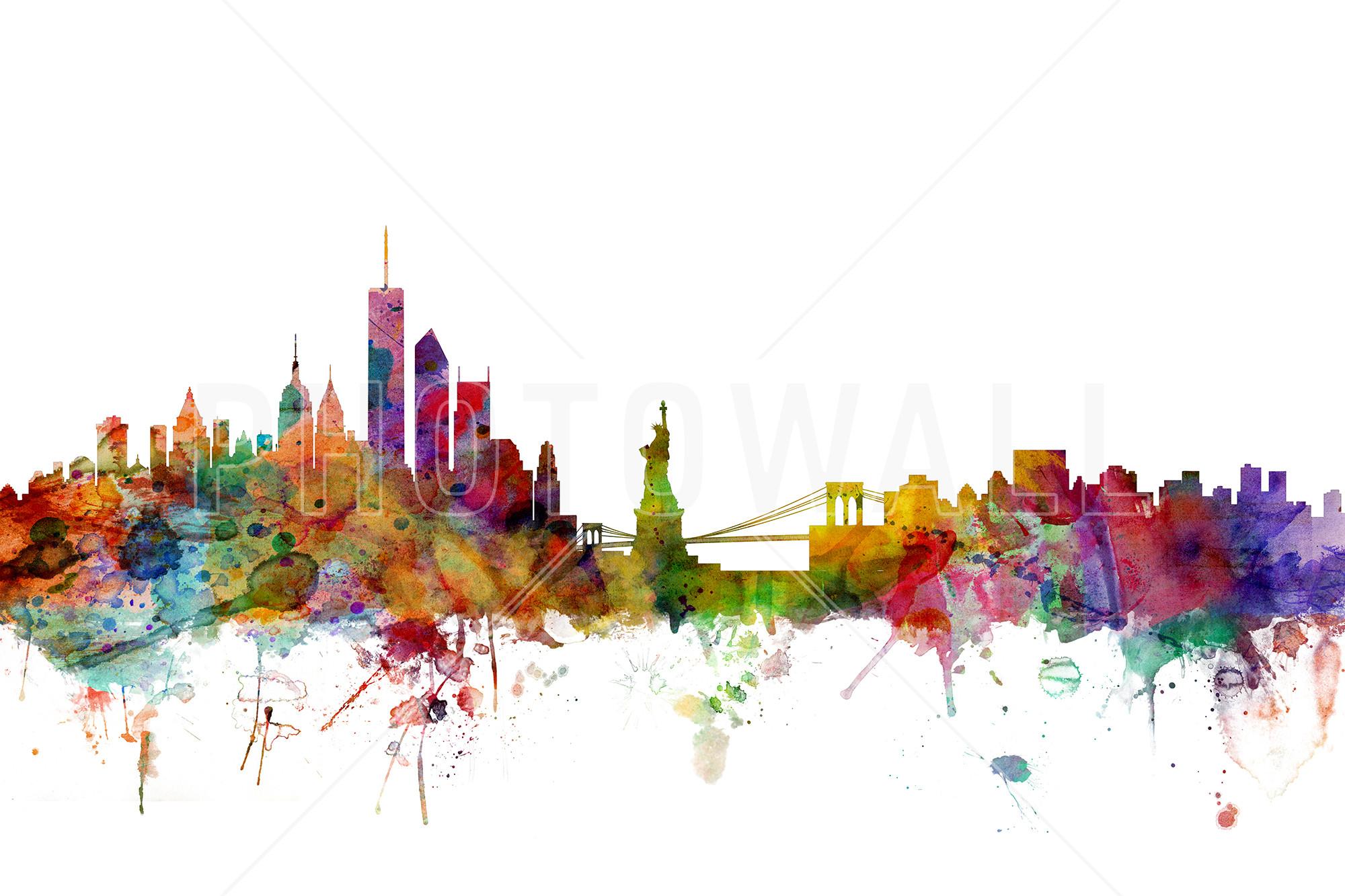 New York Skyline – Fotobehang & Behang – Photowall
