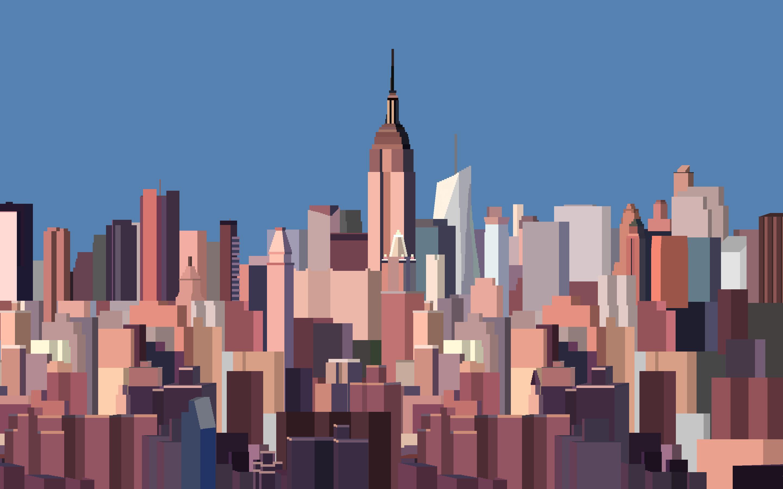 … 8 Bit New York Skyline Wallpaper by CurtisBell