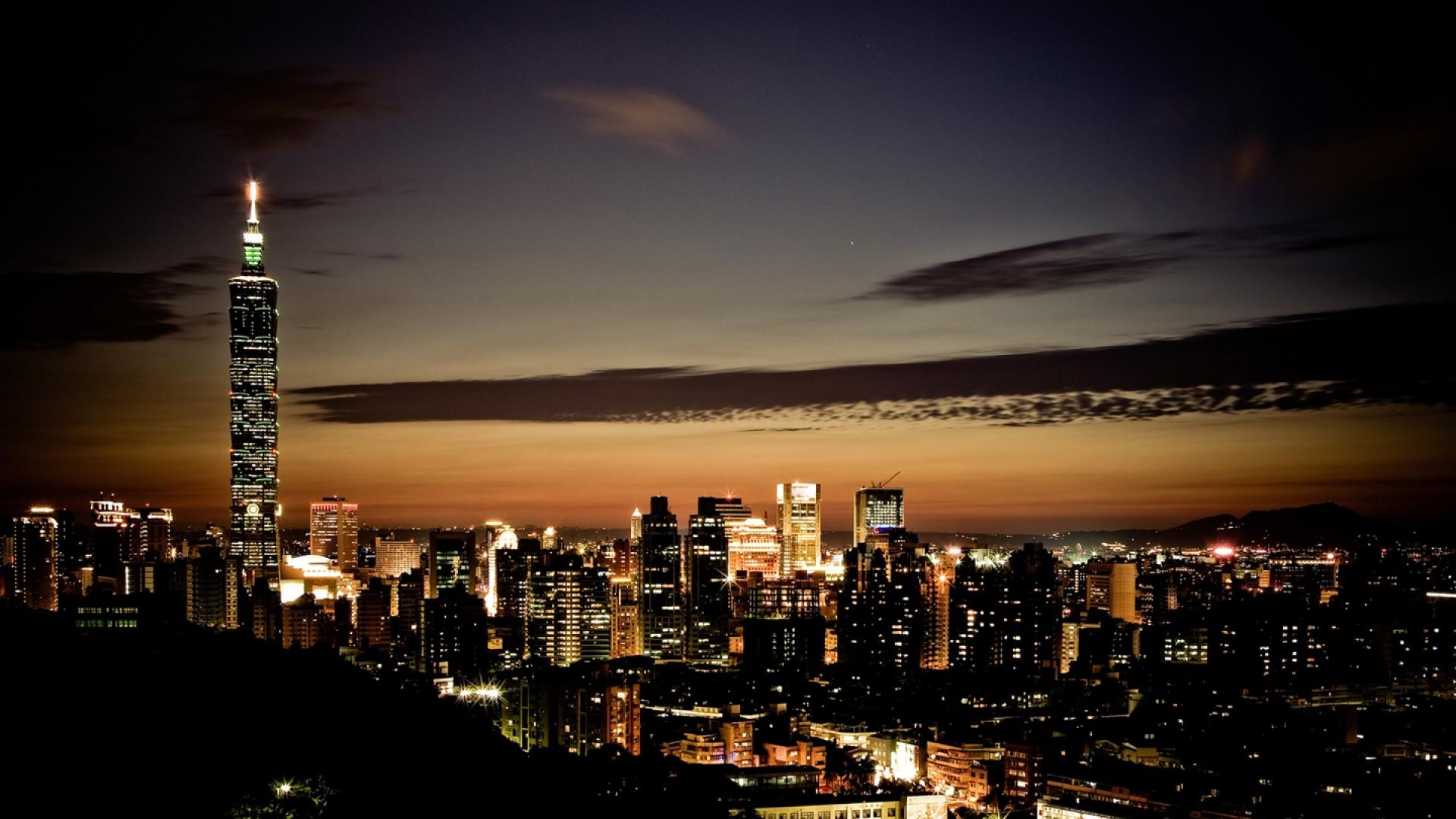 Download 'night time city wallpaper' HD wallpaper