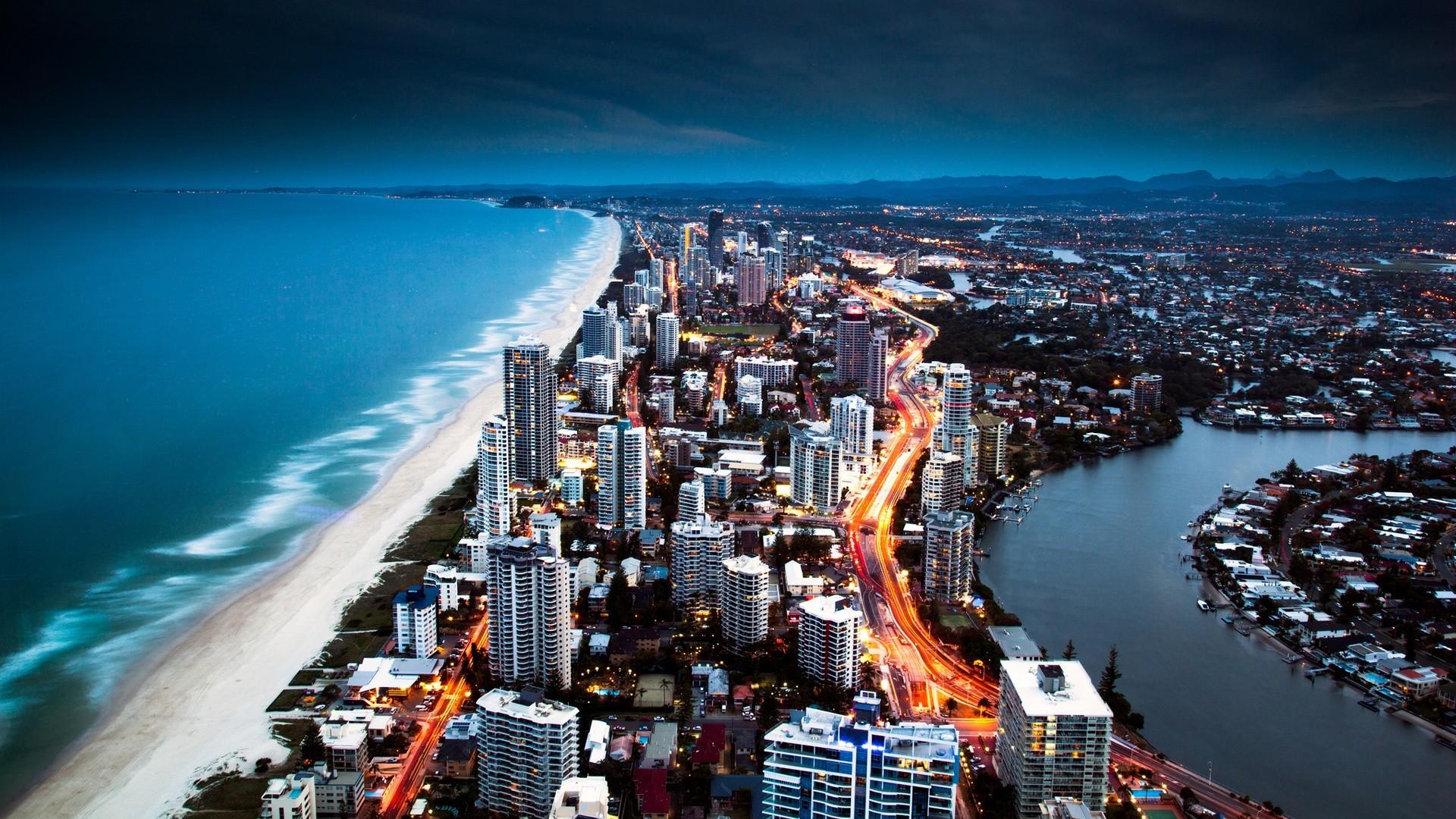 Cityscapes australia nighttime gold coast australia, nighttime, gold,  coast) via www.in