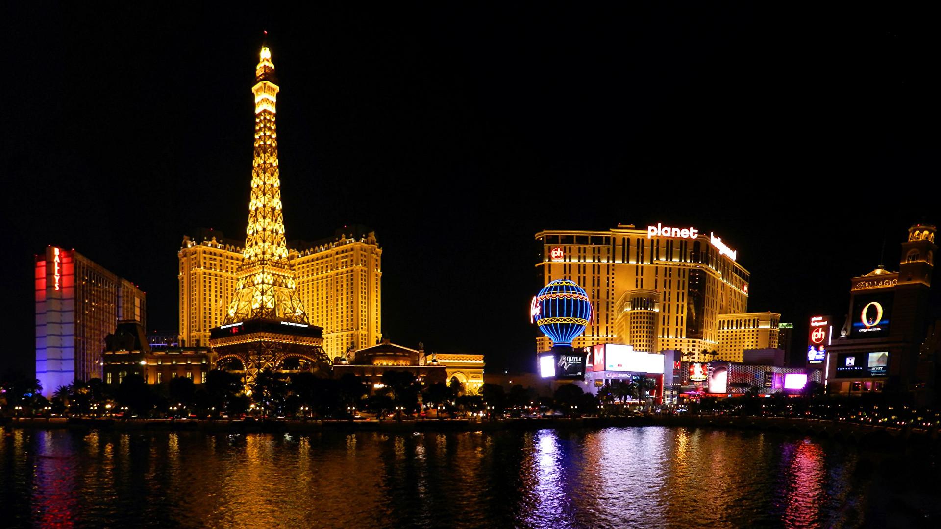 Wallpapers Las Vegas USA Rivers night time Cities Building Night  Houses
