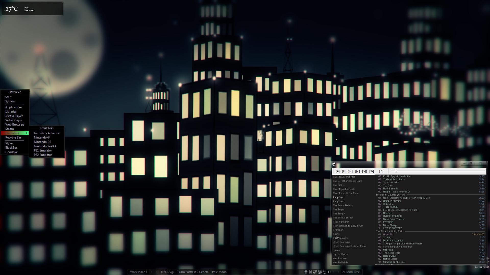 Nighttime City Sykline Desktop by animedeviant7666 Nighttime City Sykline  Desktop by animedeviant7666