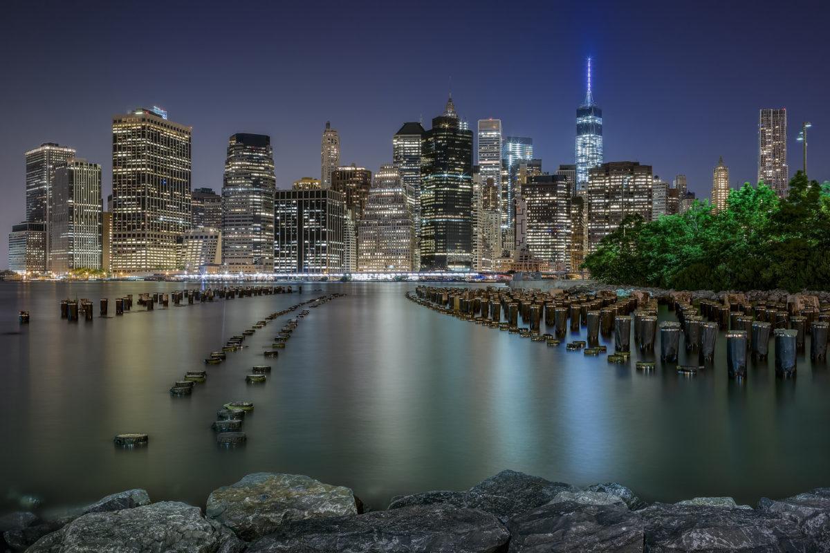 Wallpaper Manhattan New York City Usa Night Cities Houses Night