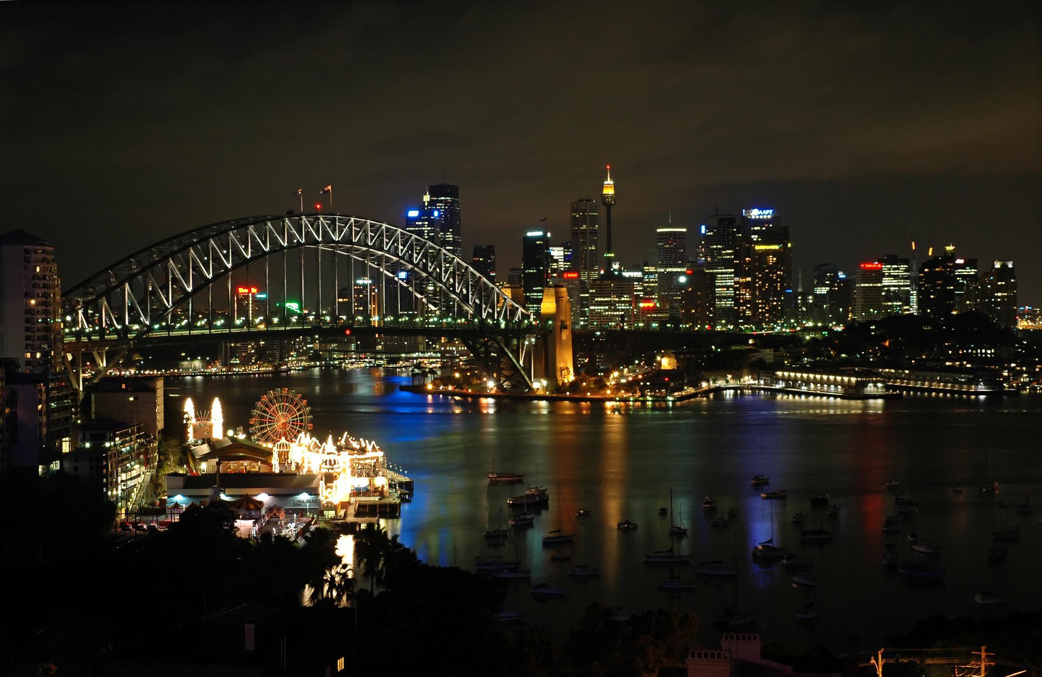 Sydney City Skyline HD Wallpaper