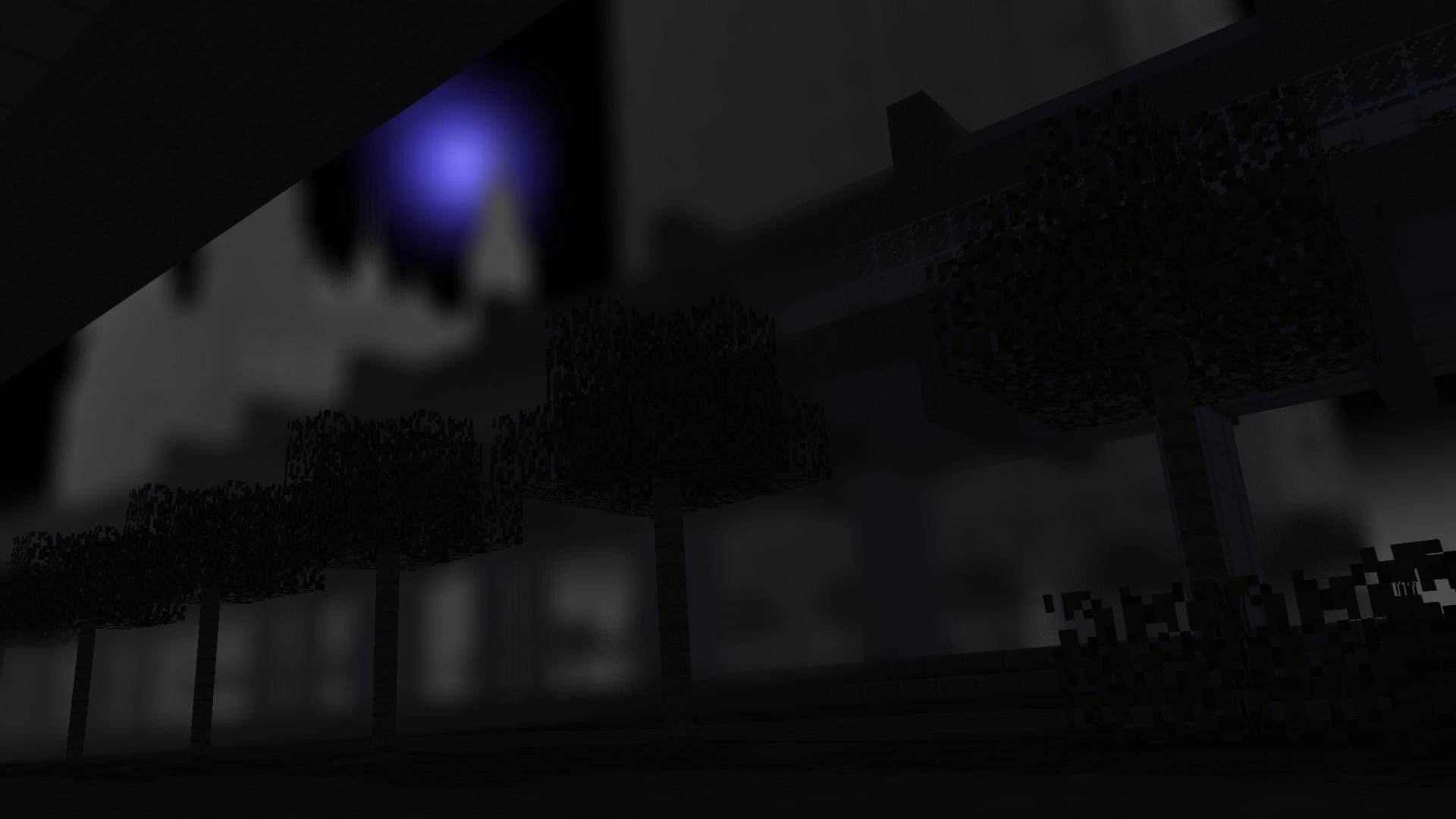 A Minecraft City Wallpaper at Night
