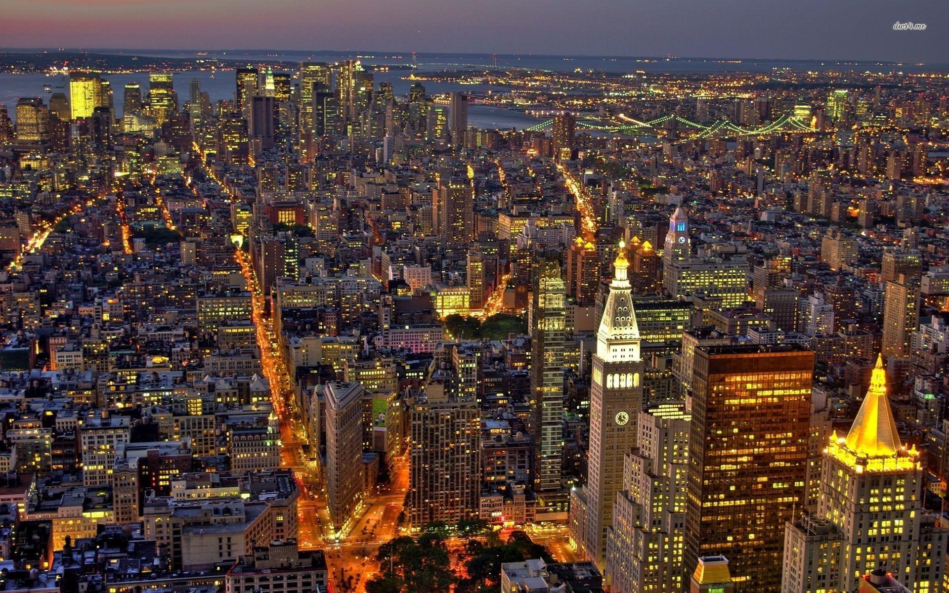 New York at night wallpaper – World wallpapers – #