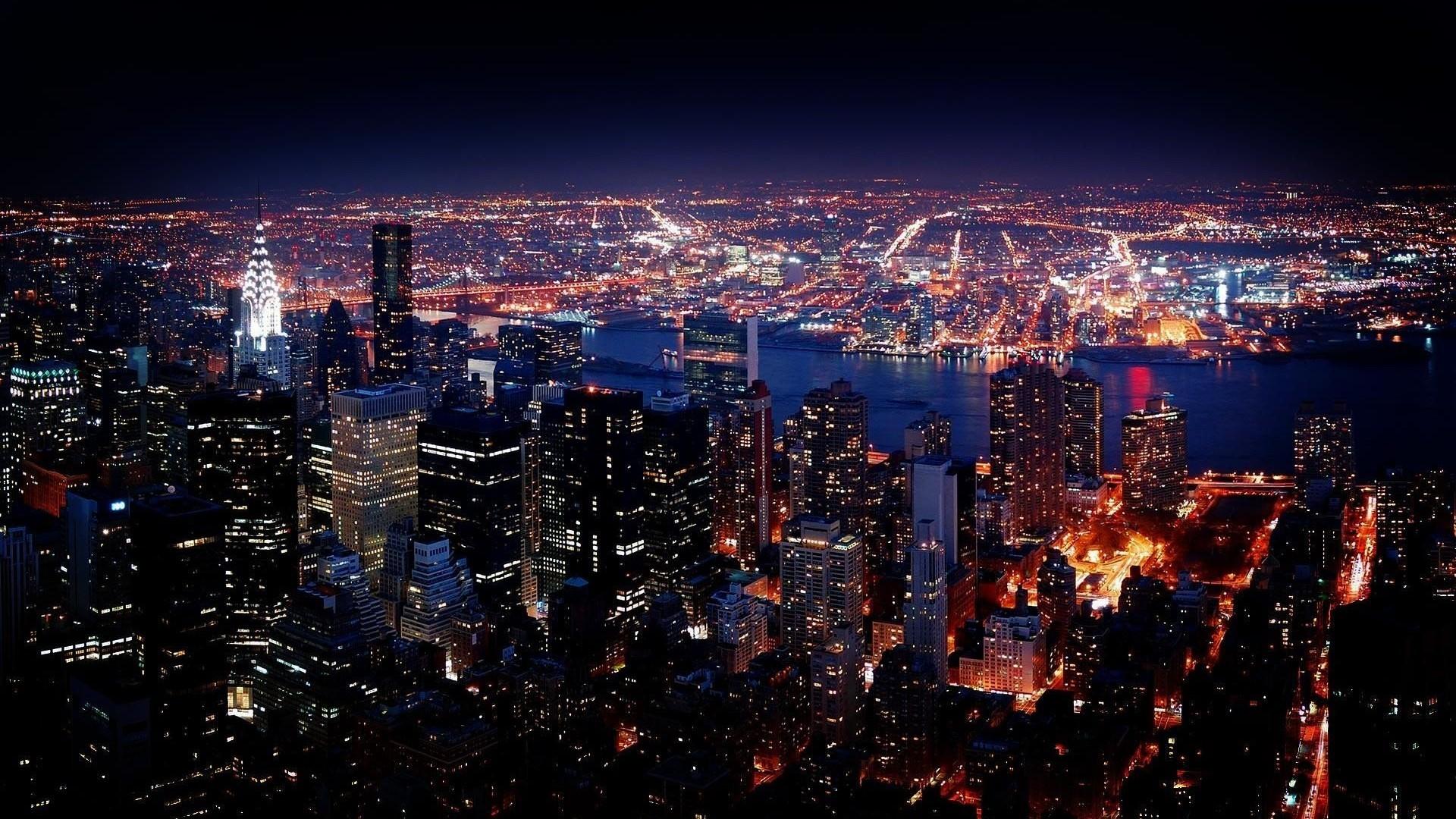 New York City Night View HD Wallpaper