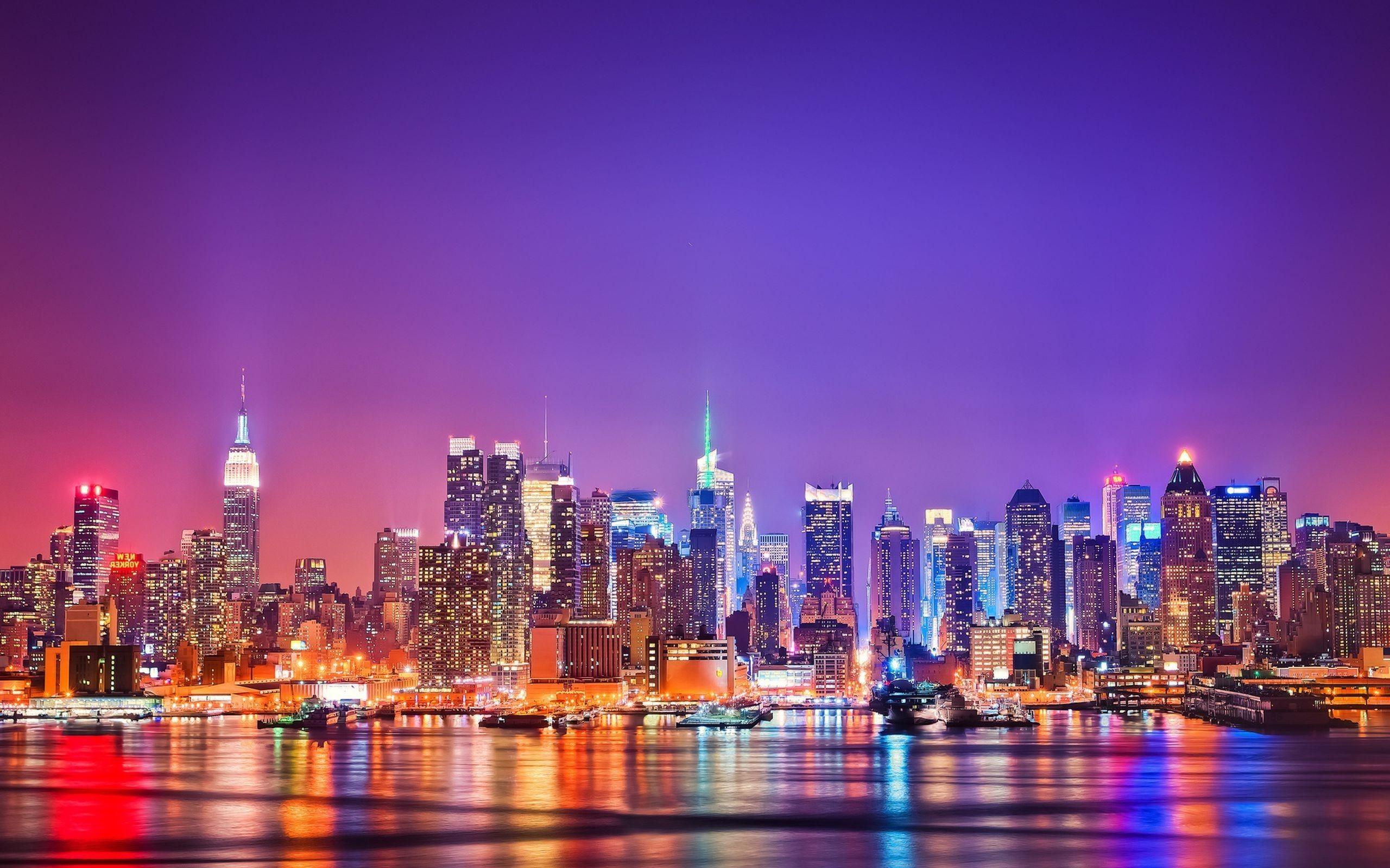 New York At Night Wallpaper Widescreen Resolution – Wallpaper