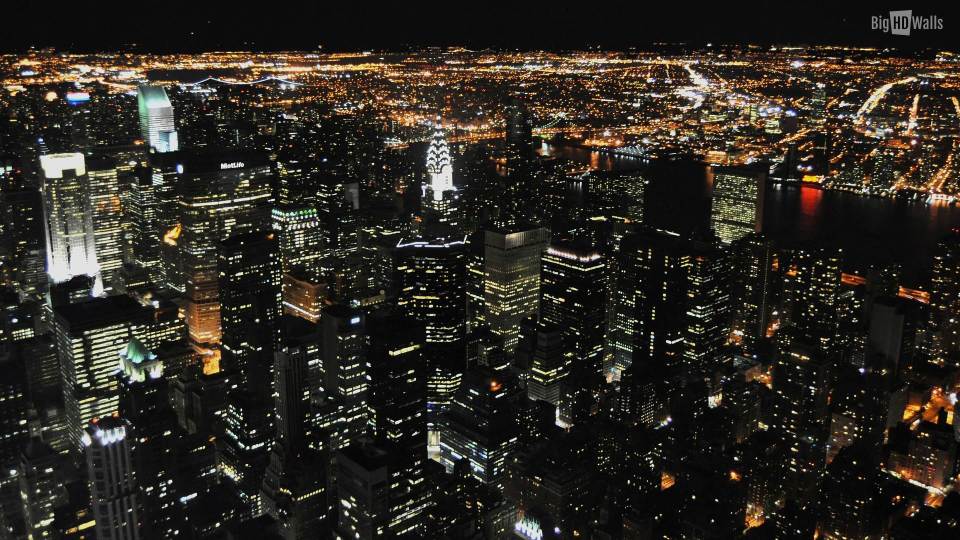 city lights at night NYC