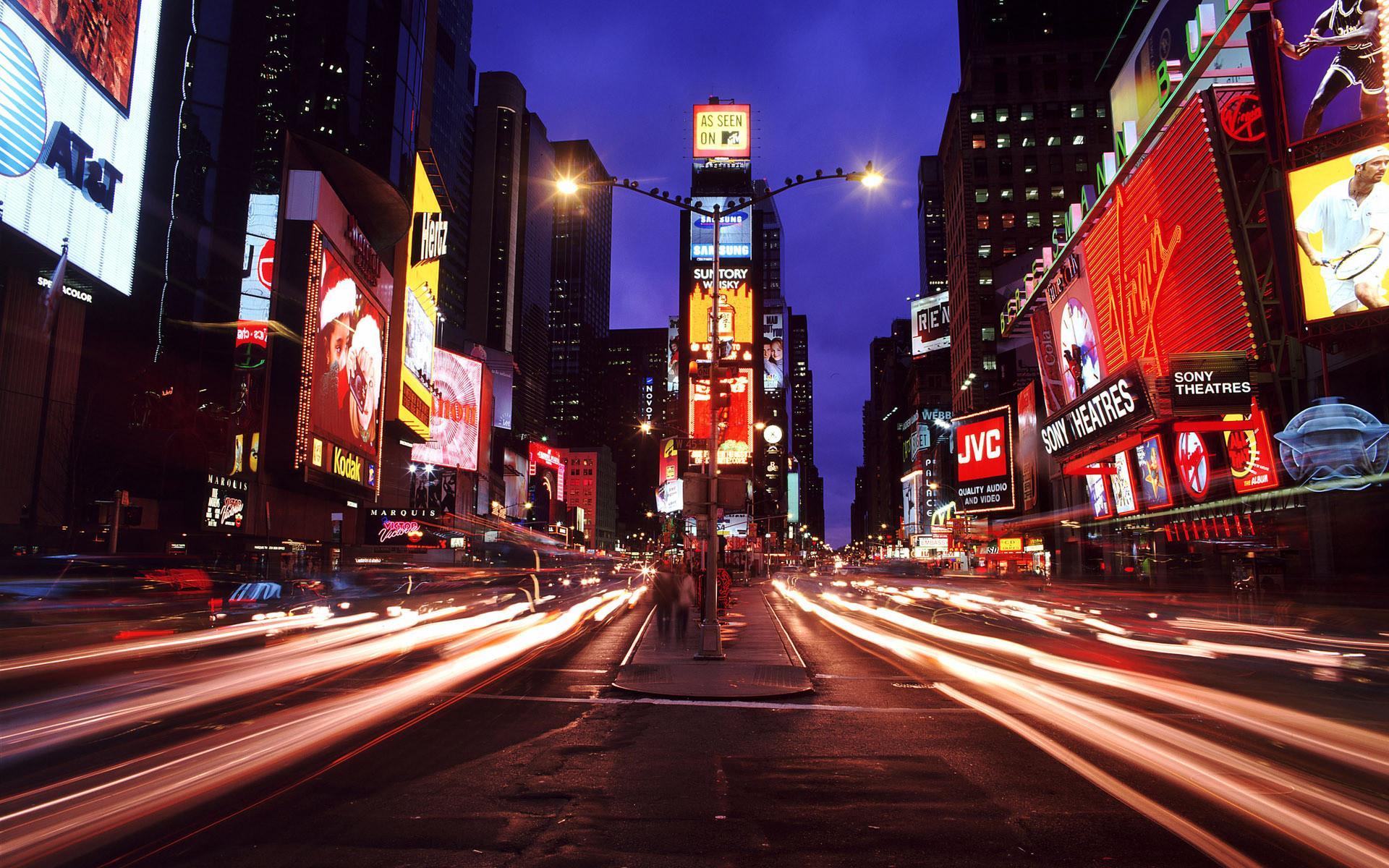 New York Street Night