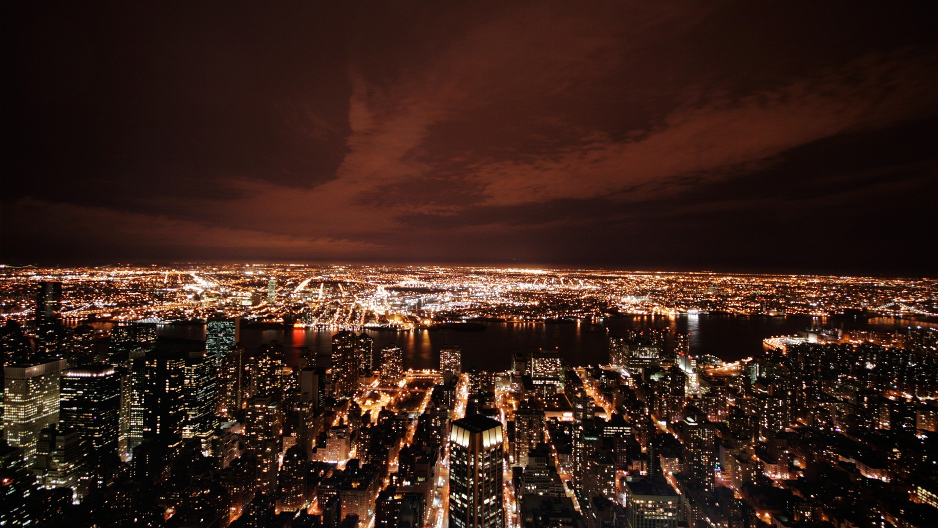 New York at night Wallpaper United States World Wallpapers