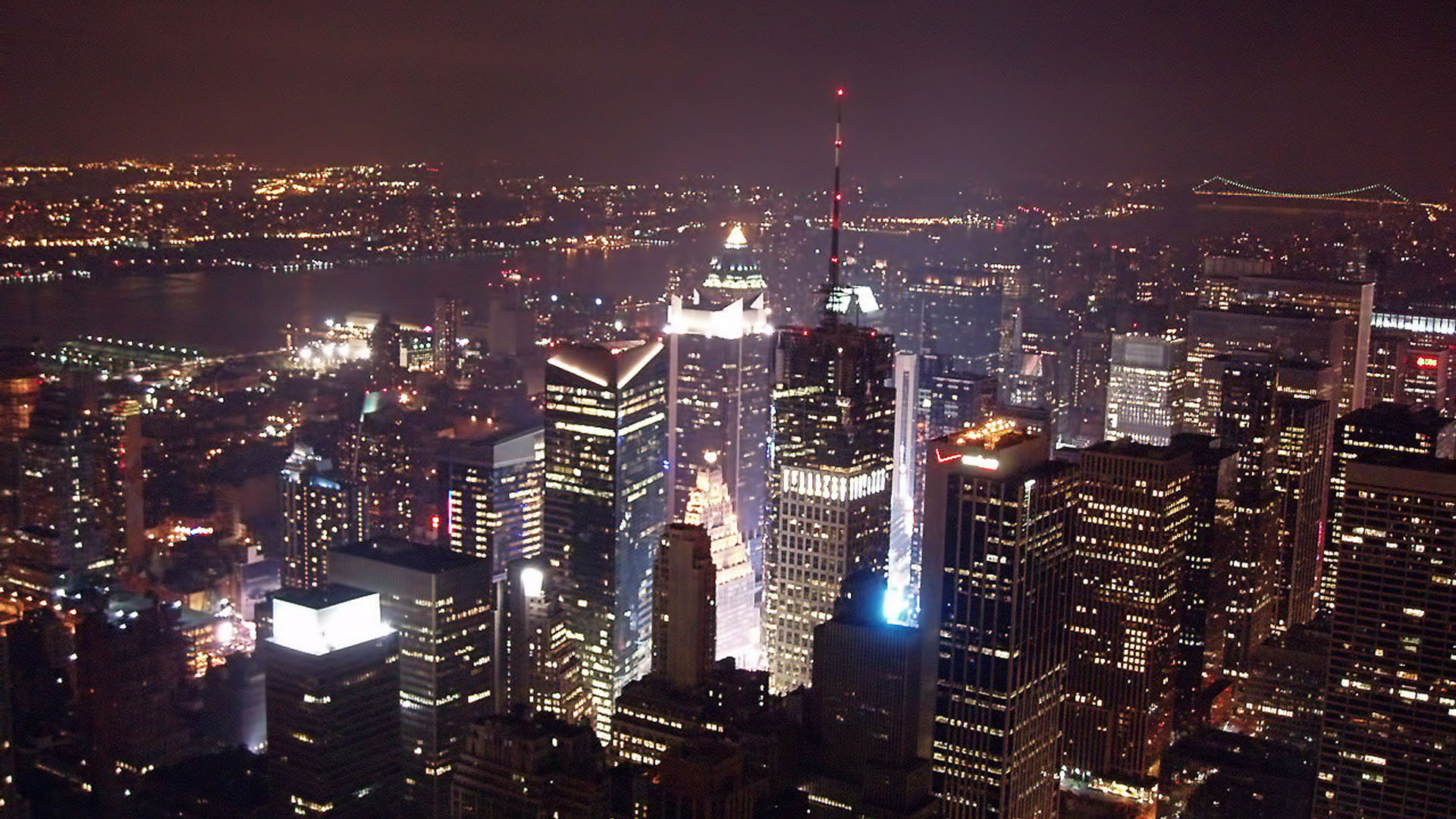 Empire State Building At Night Wallpaper