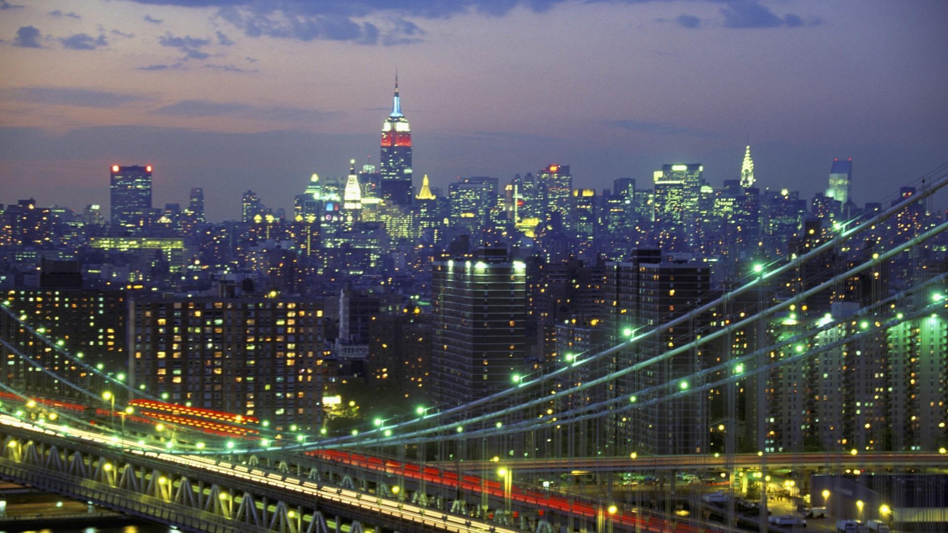 High Resolution New York Skyline at Night Wallpaper HD 17 City .