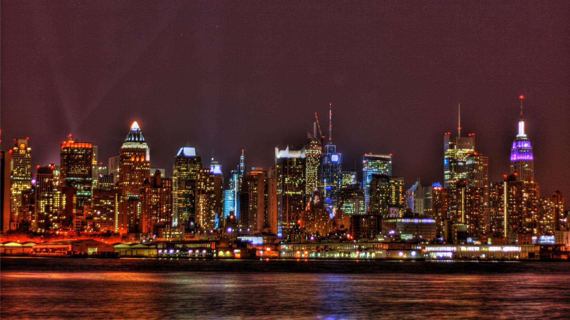 New York City Skyline At Night Hd