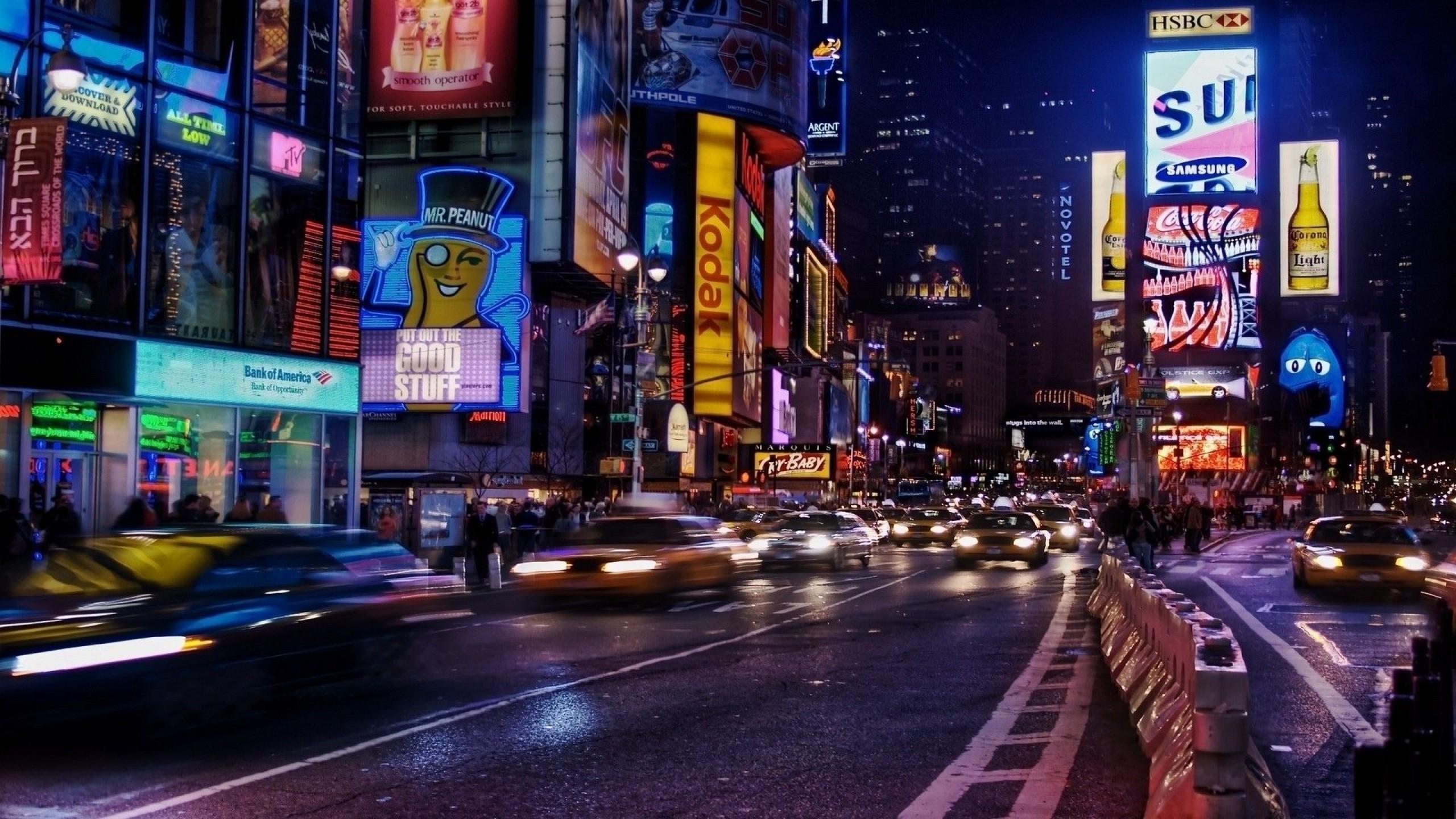 New York City Streets at Night