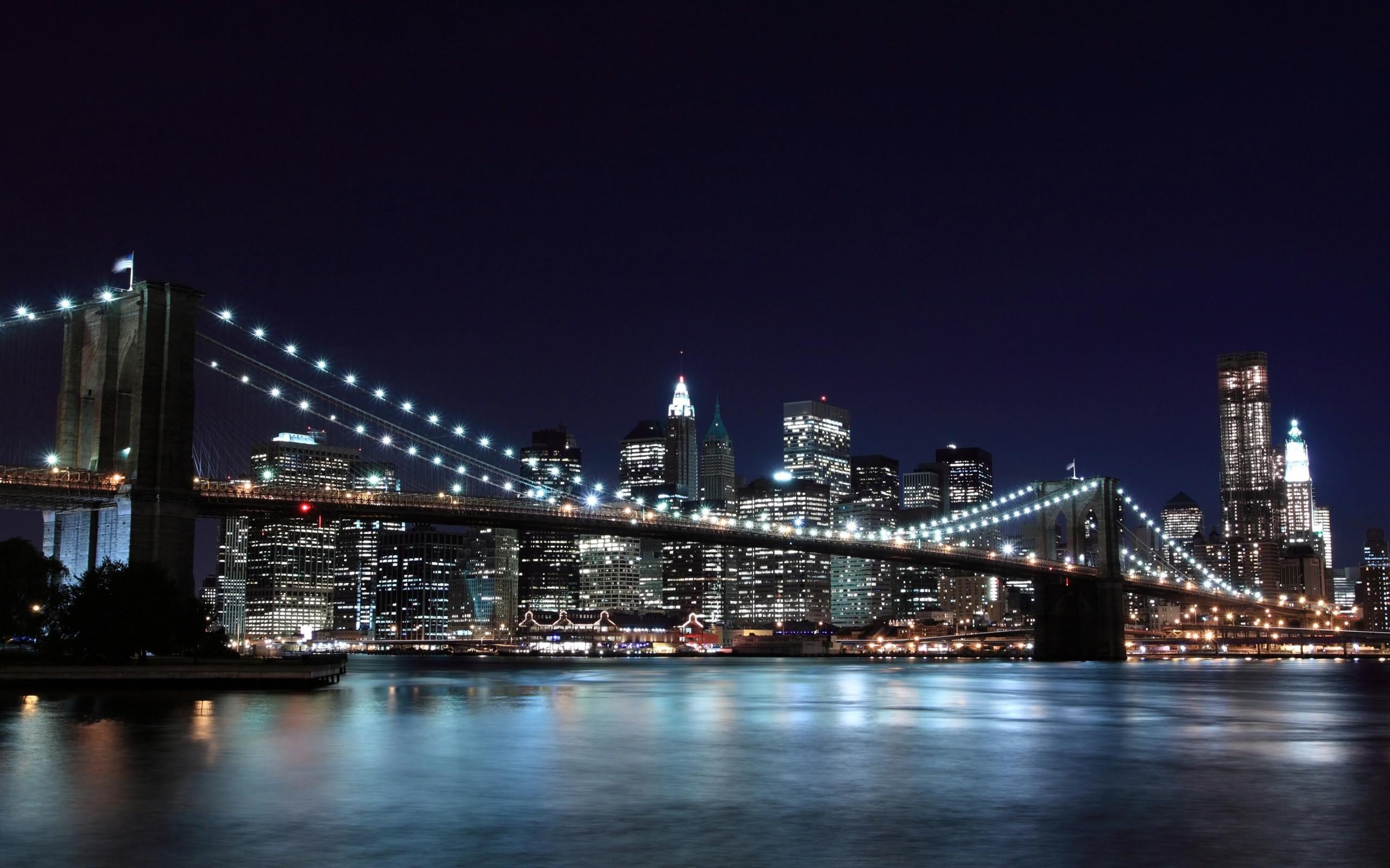Brooklyn Bridge, Night, New York, USA https://www.walldc