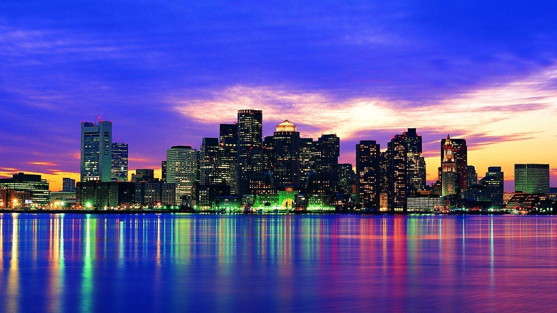 New York City Skyline at Night Wallpaper Wide or HD | Photography .