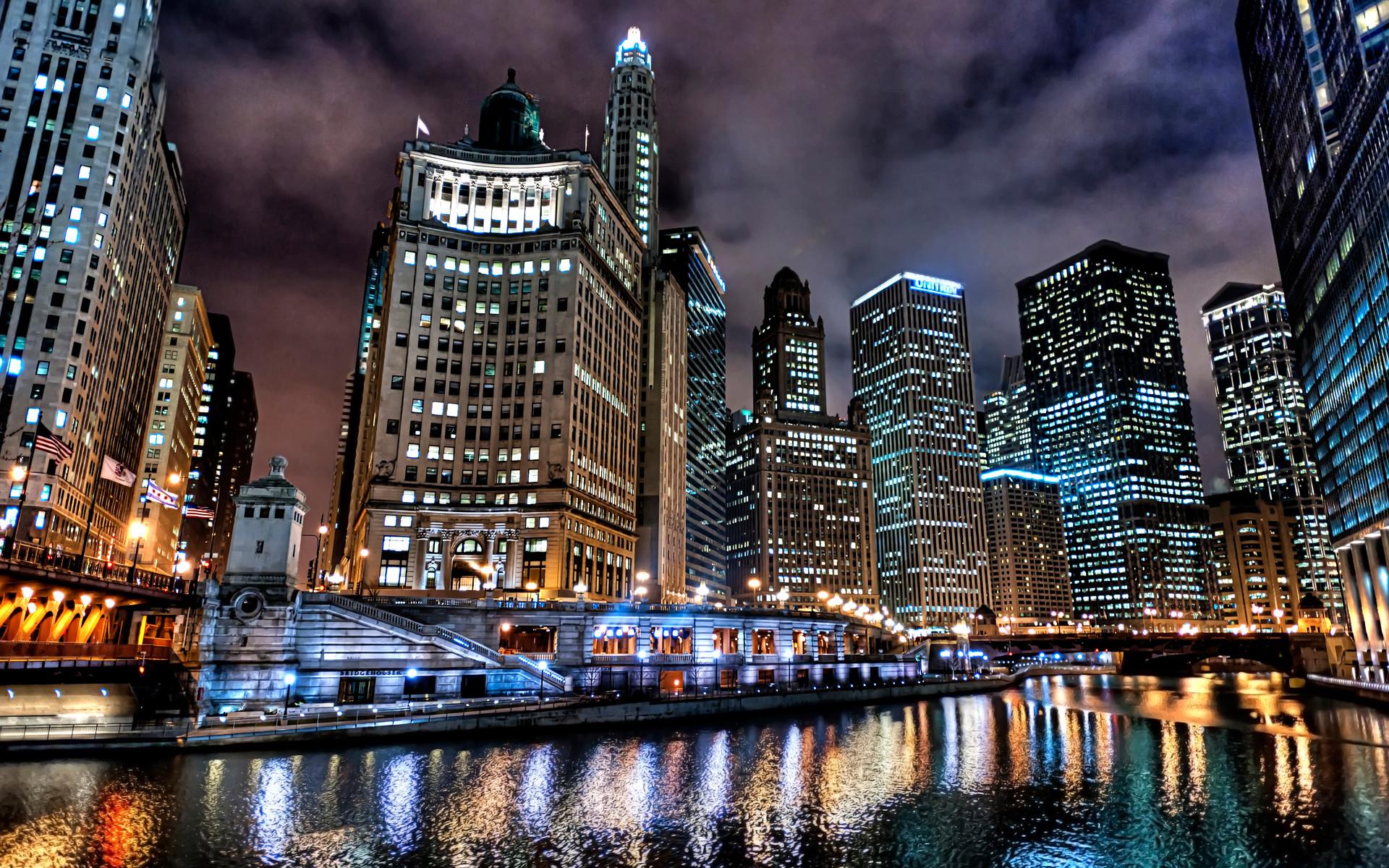 Chicago City Scenery Wallpaper Desktop Wallpaper | WallpaperLepi