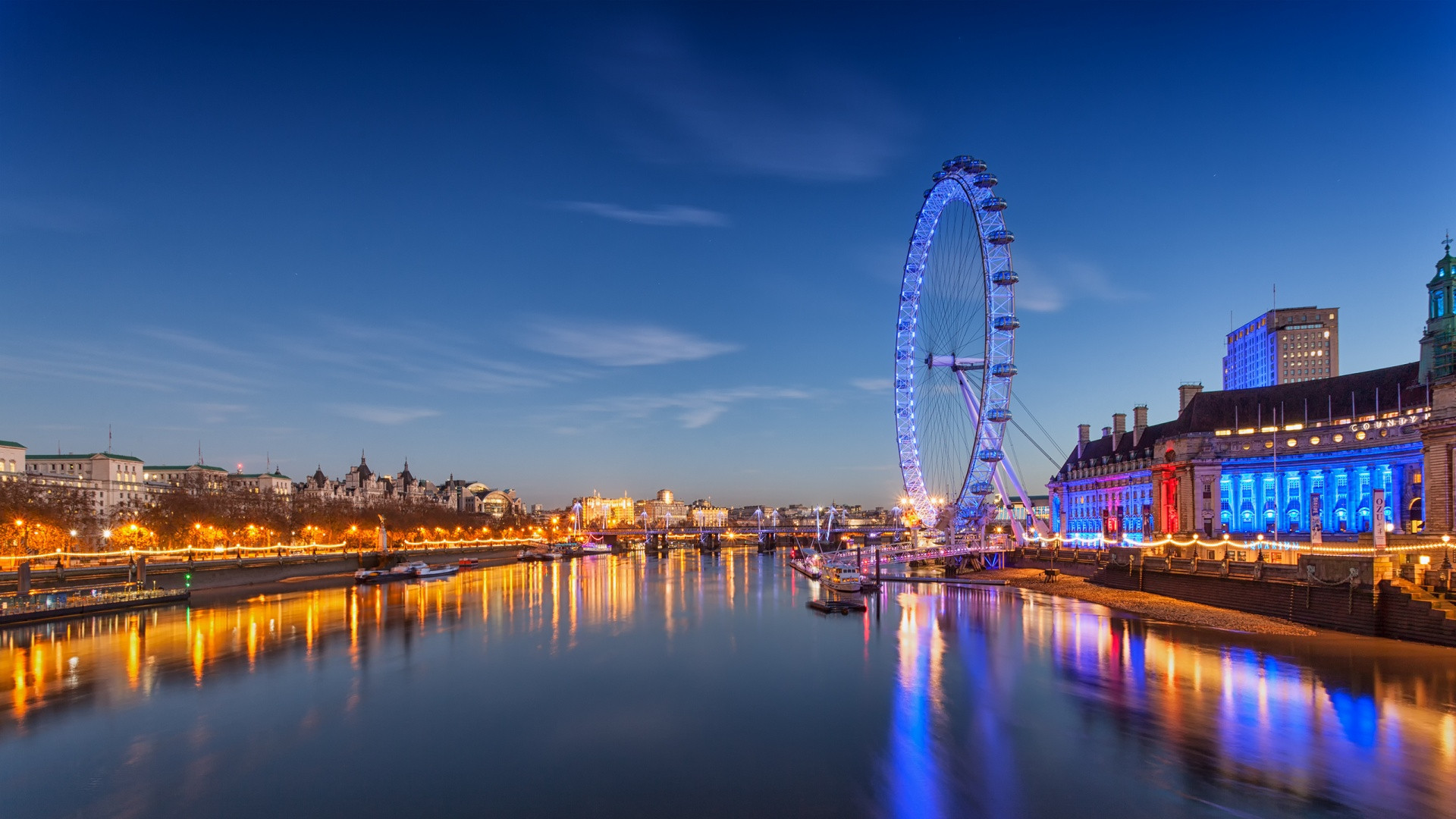 Buildings City Lights England London London Eye Reflections River United  Kingdom free iPhone or Android Full HD wallpaper.